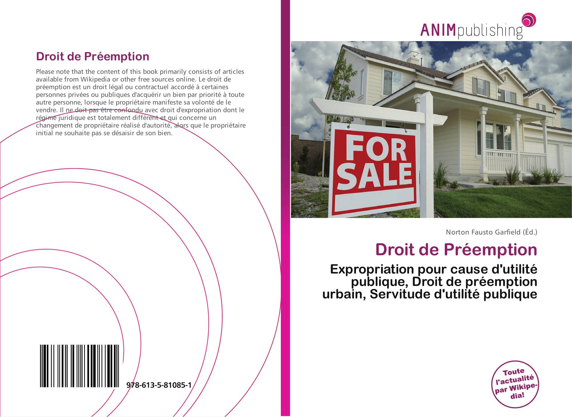 Droit de pr emption 978 613 5 81085 1 6135810855 9786135810851 - Le droit de preemption ...
