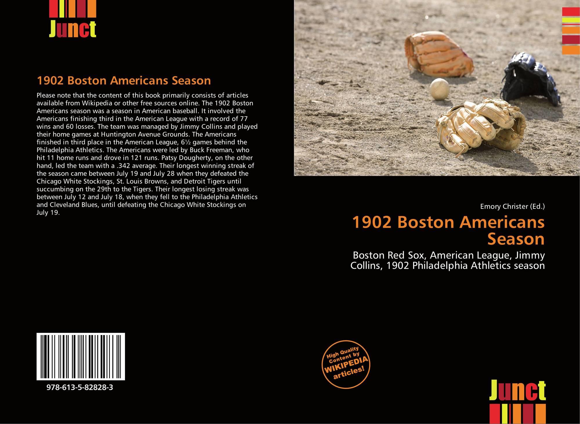 bc52ede86fe Bookcover of 1902 Boston Americans Season