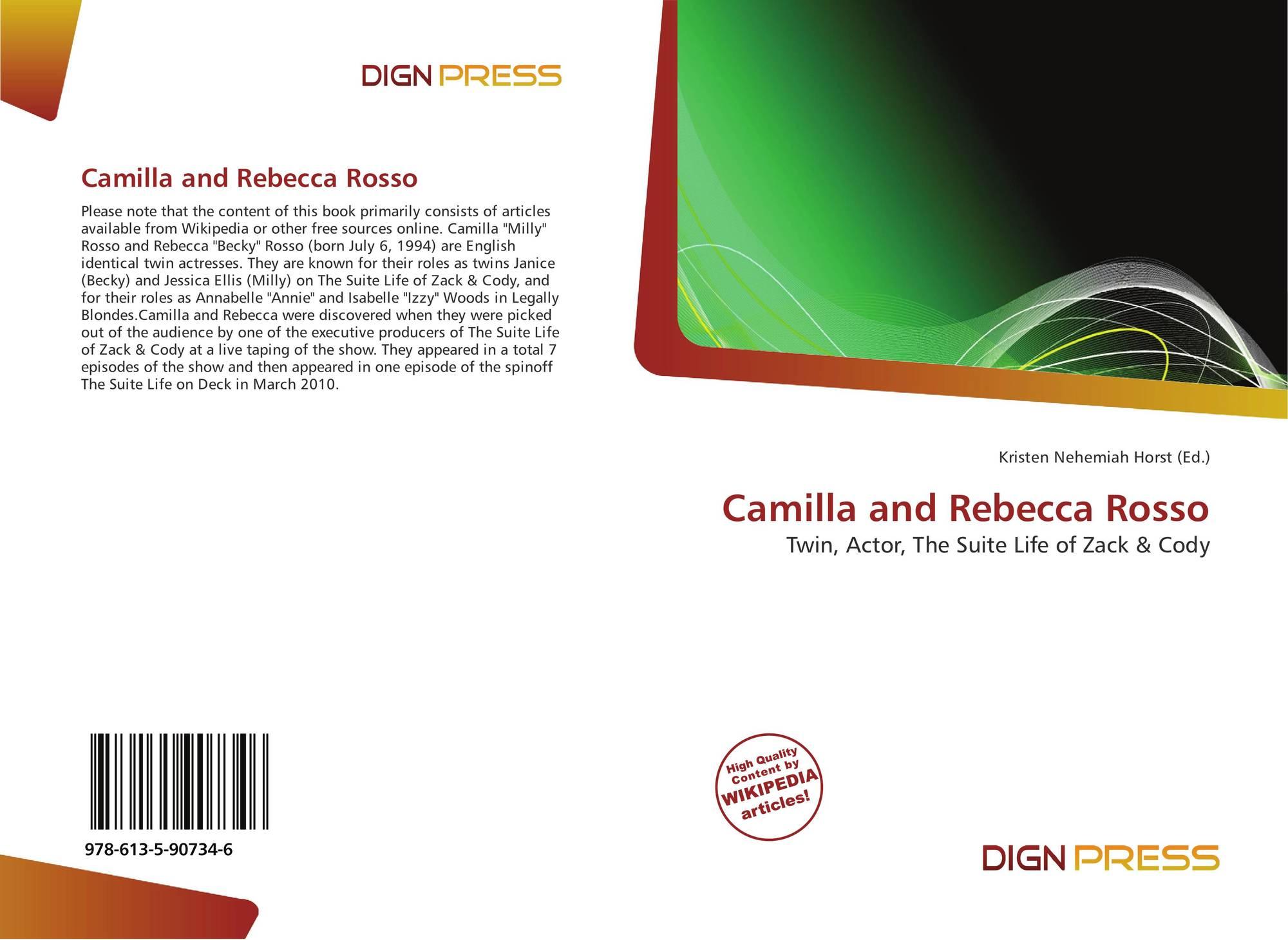 Camilla And Rebecca Rosso 978 613 5 90734 6 6135907344