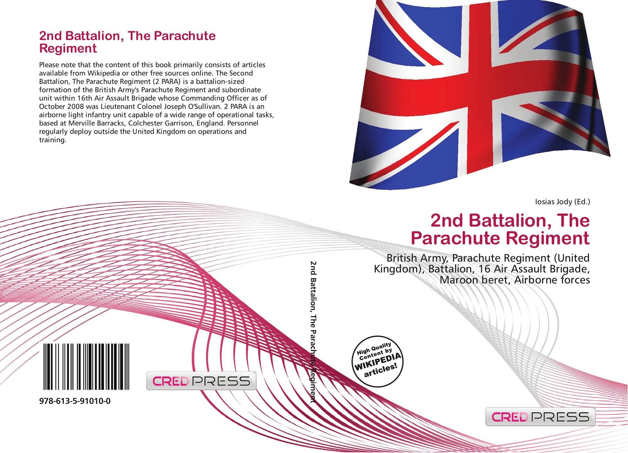 2nd Battalion, The Parachute Regiment, 978-613-5-91010-0