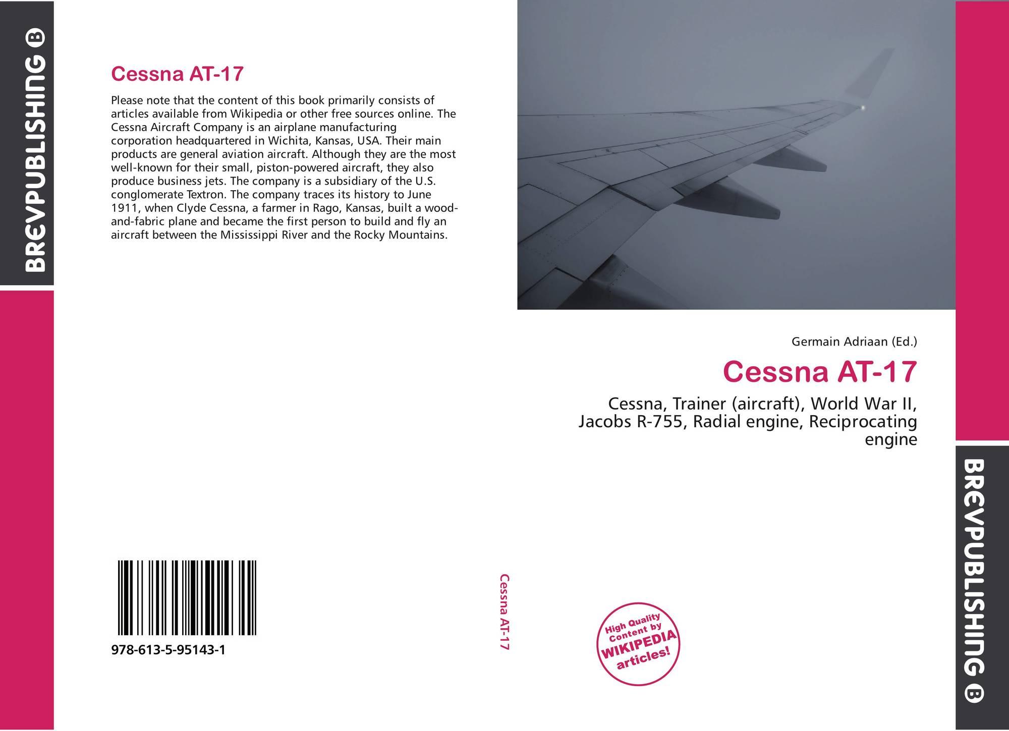 Cessna AT-17, 978-613-5-95143-1, 6135951432 ,9786135951431