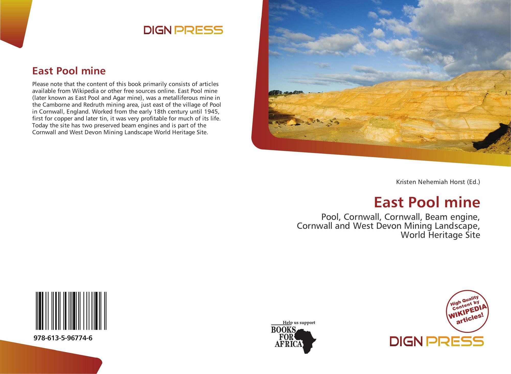 East Pool mine, 978-613-5-96774-6, 6135967746 ,9786135967746