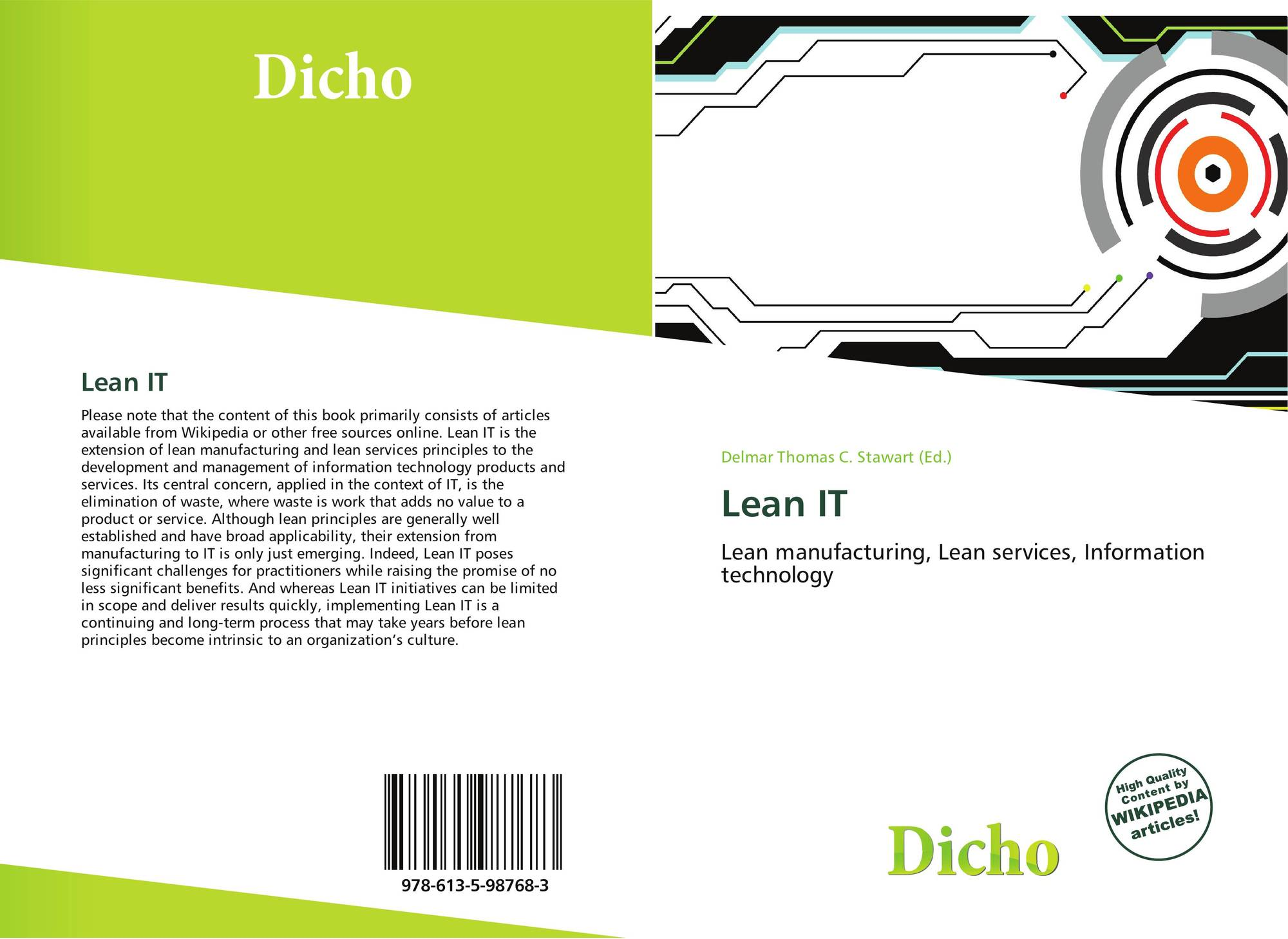 Lean construction wikipedia - Portada Del Libro De Lean It