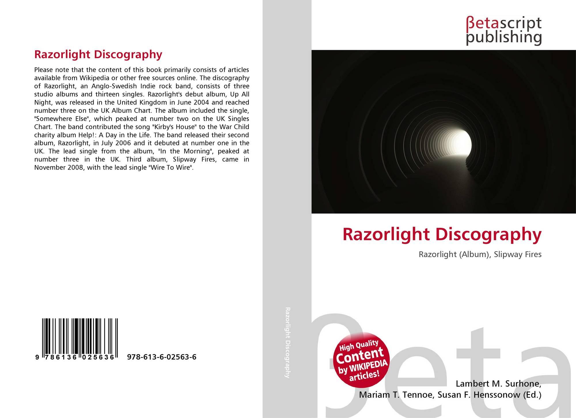 Razorlight Discography, 978-613-6-02563-6, 6136025639 ,9786136025636