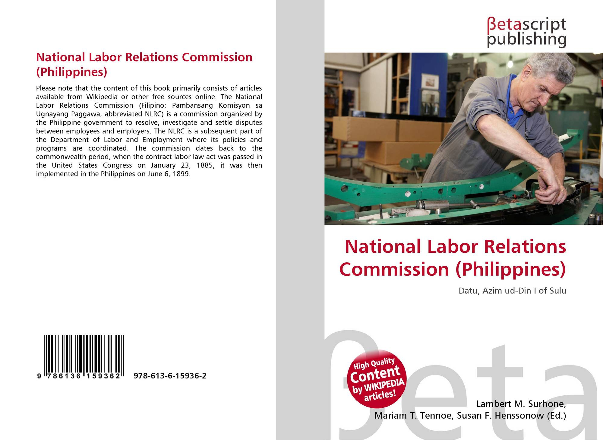 national labor relations commission philippines Labour market governance in the philippines: issues and institutions  dole undersecretary, dole and chairman of the national labor relations commission.