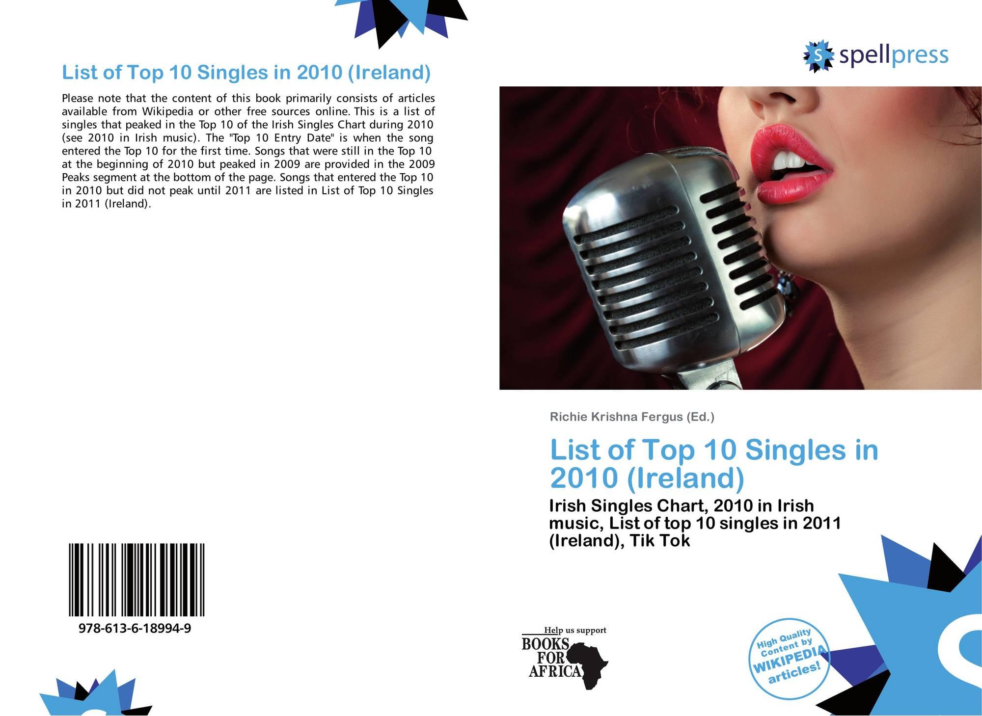List of Top 10 Singles in 2010 (Ireland), 978-613-6-18994-9