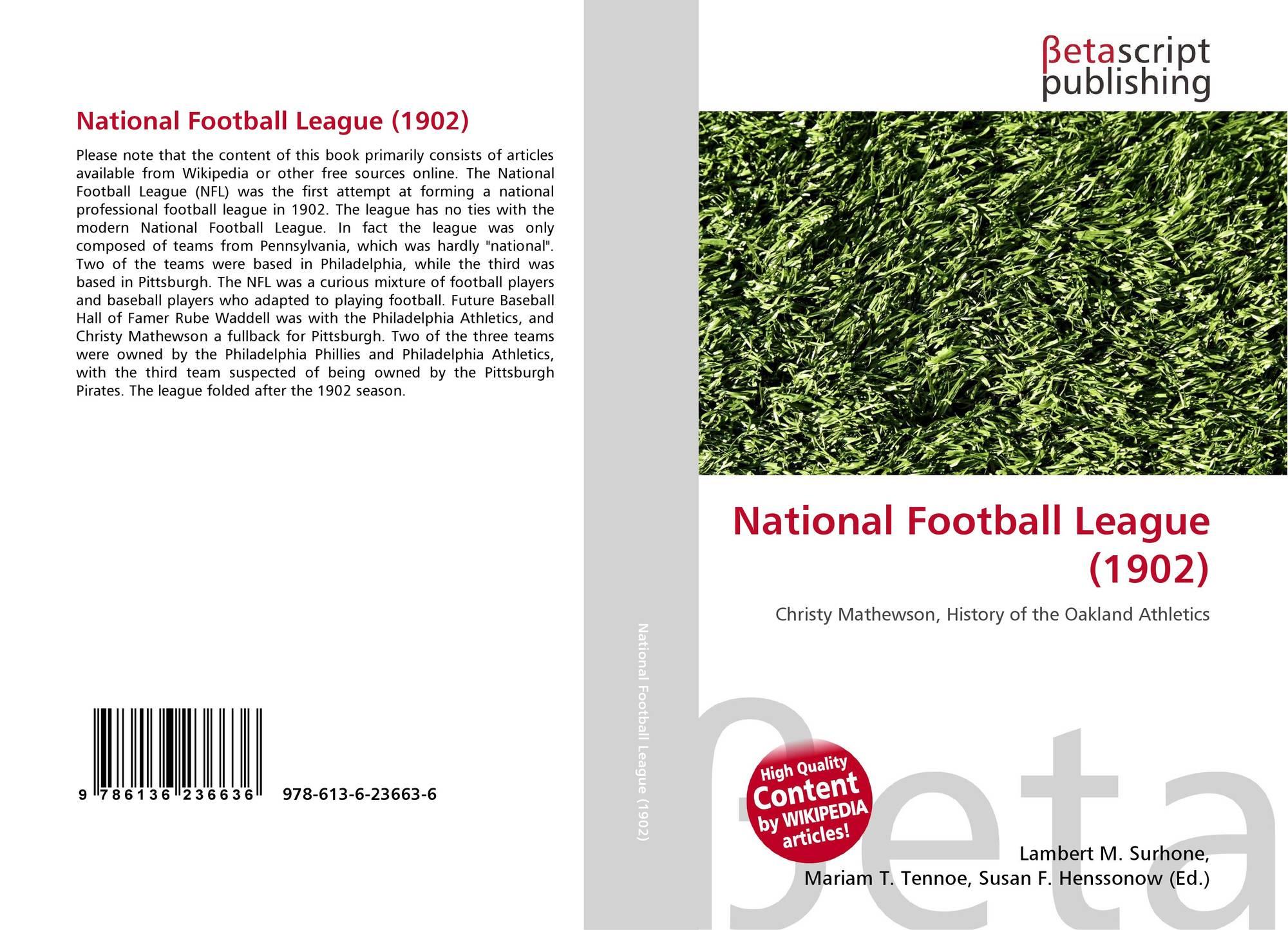 8e52e33634d Bookcover of National Football League (1902). Omni badge  9307e2201e5f762643a64561af3456be64a87707602f96b92ef18a9bbcada116