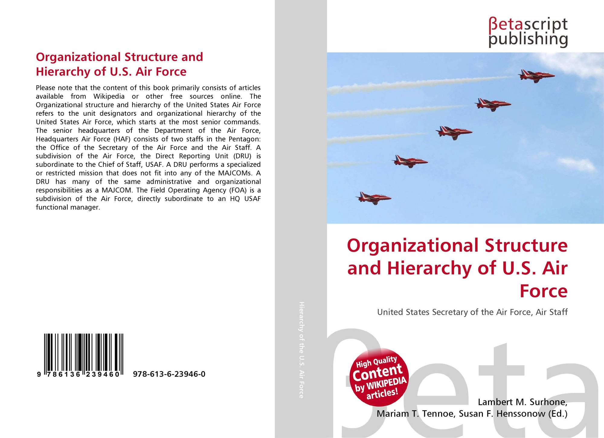 Organizational Structure and Hierarchy of U.S. Air Force