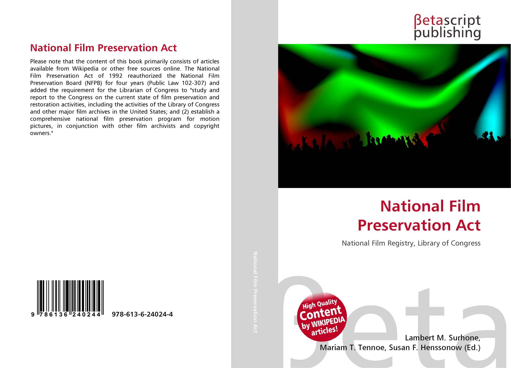 Bookcover Of National Film Preservation Act Omni Badge 9307e2201e5f762643a64561af3456be64a87707602f96b92ef18a9bbcada116