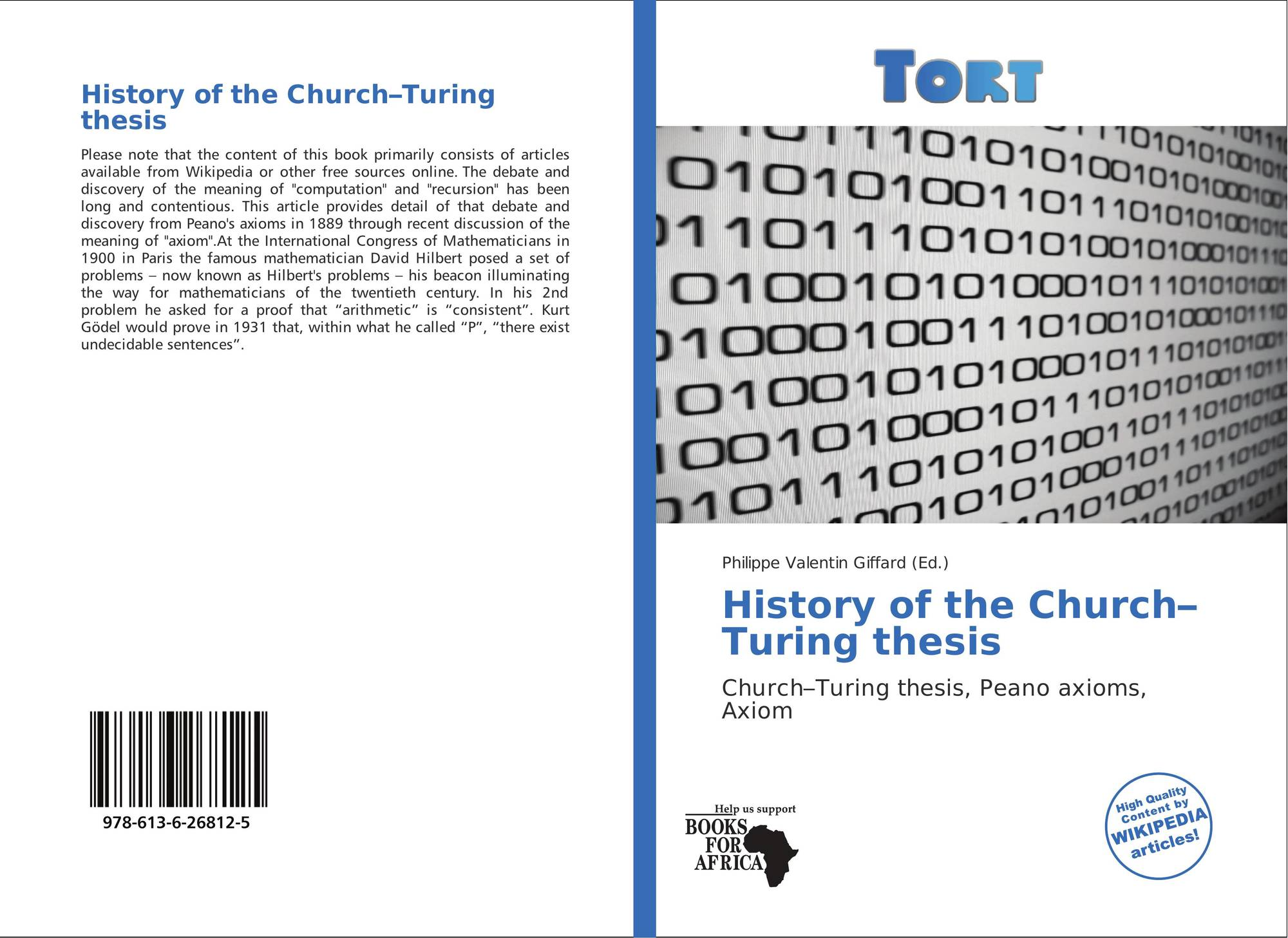 church-turing thesis published Our objective is to find out the relation of a quantum bit and the strong church turing thesis converging the gap between theoretical model and physical structure published in: ubiquitous computing, electronics & mobile communication conference (uemcon), ieee annual date of conference: 20- 22.