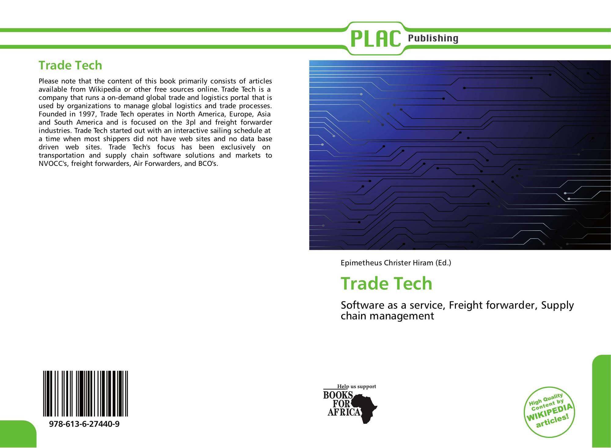 Trade Tech, 978-613-6-27440-9, 613627440X ,9786136274409
