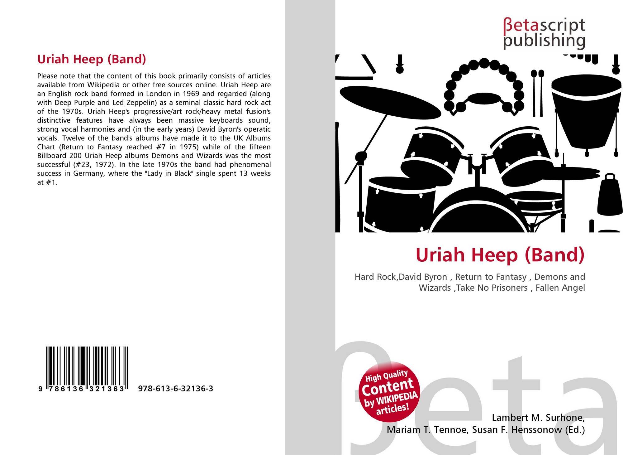 Uriah Heep Band 978 613 6 32136 3 613632136x 9786136321363