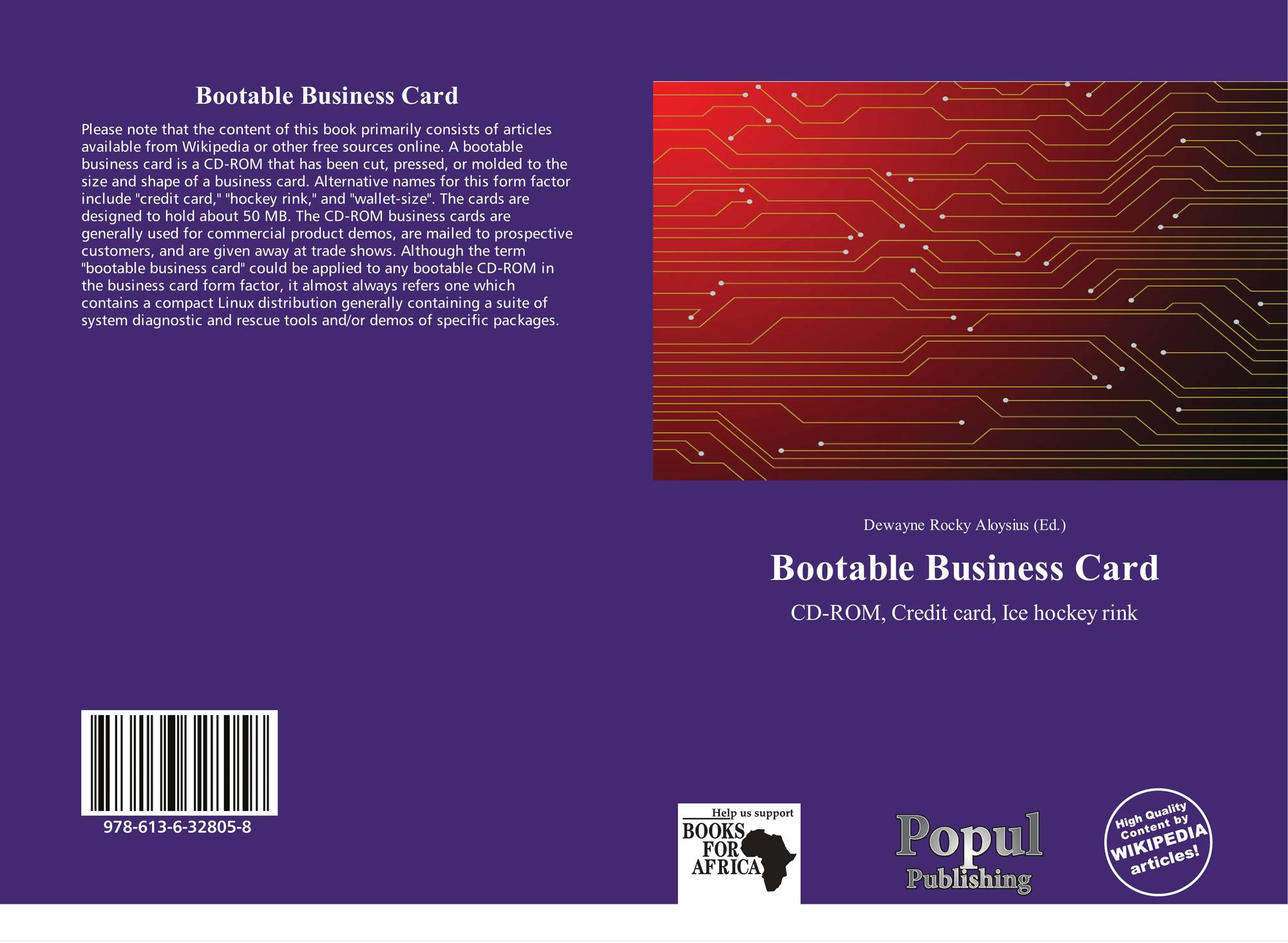 bootable business card 978 613 6 8