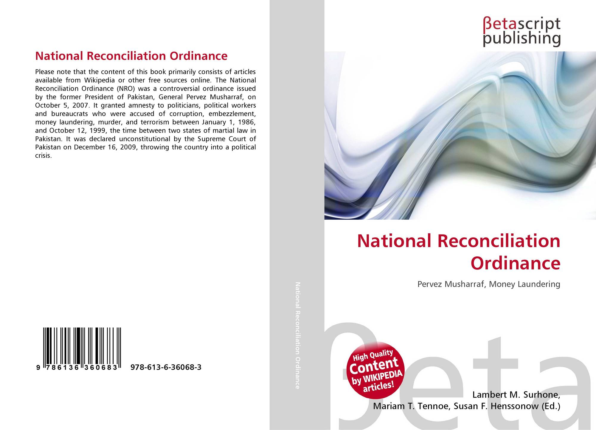 national reconciliation ordinance