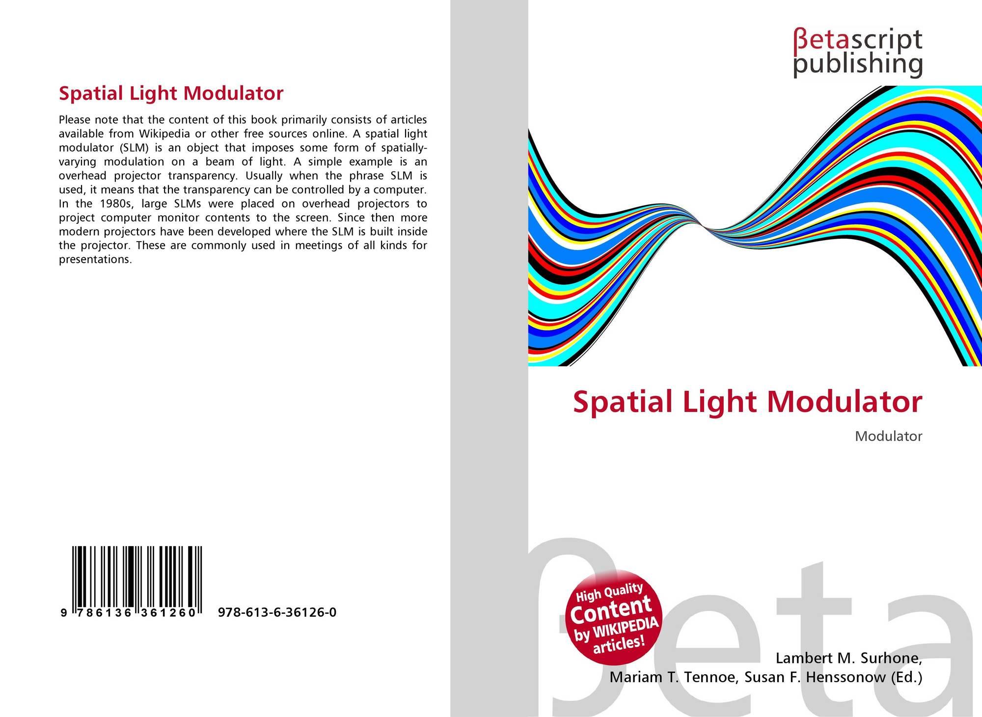 Bookcover Of Spatial Light Modulator. 9786136361260