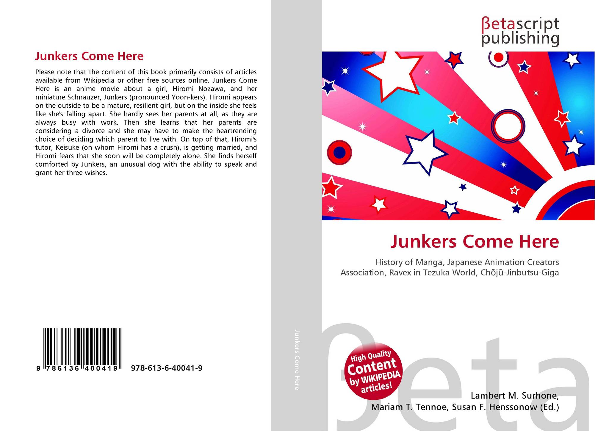 Bookcover Of Junkers Come Here 9786136400419