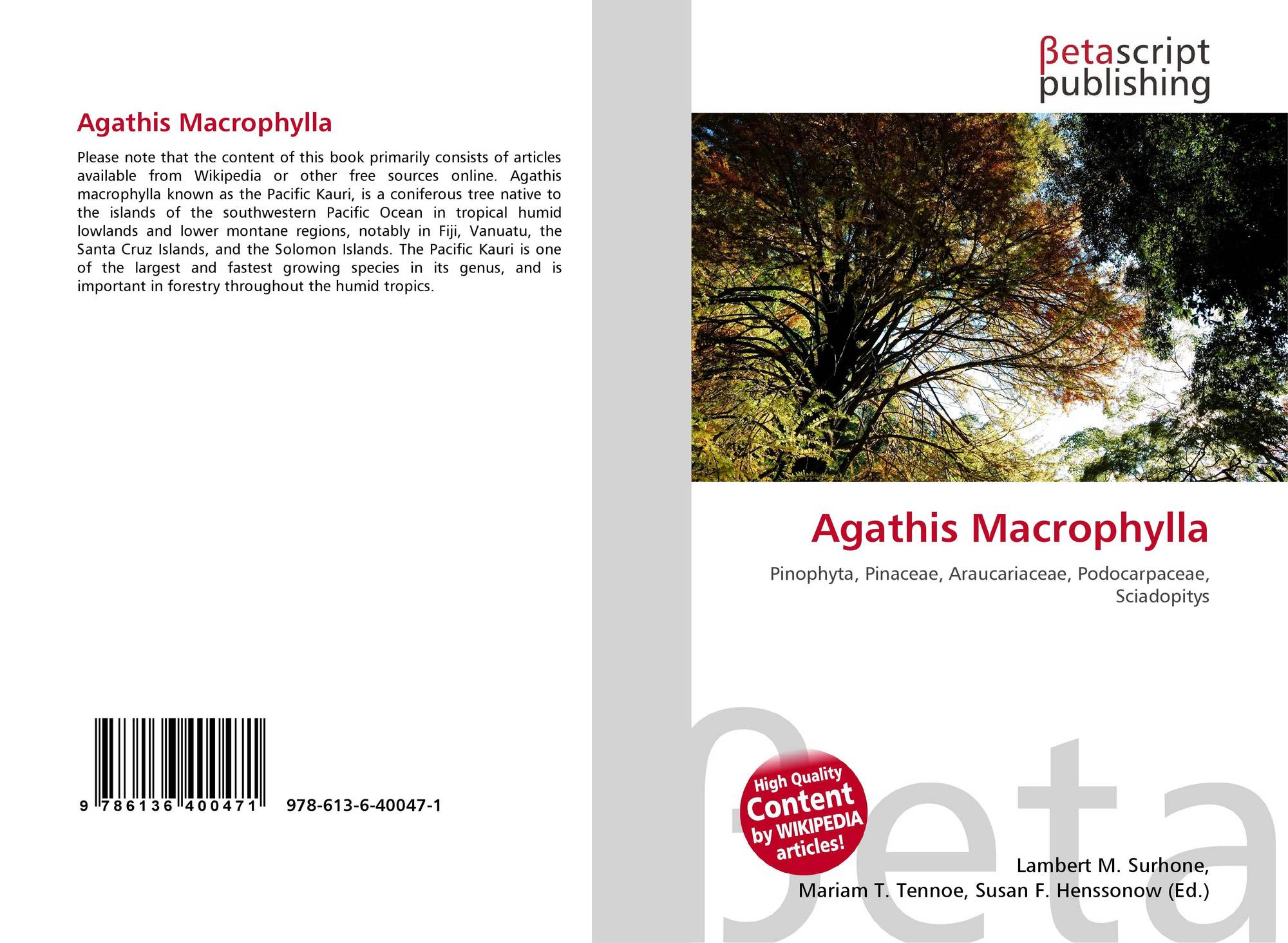 flora assessment agathis macrophylla essay