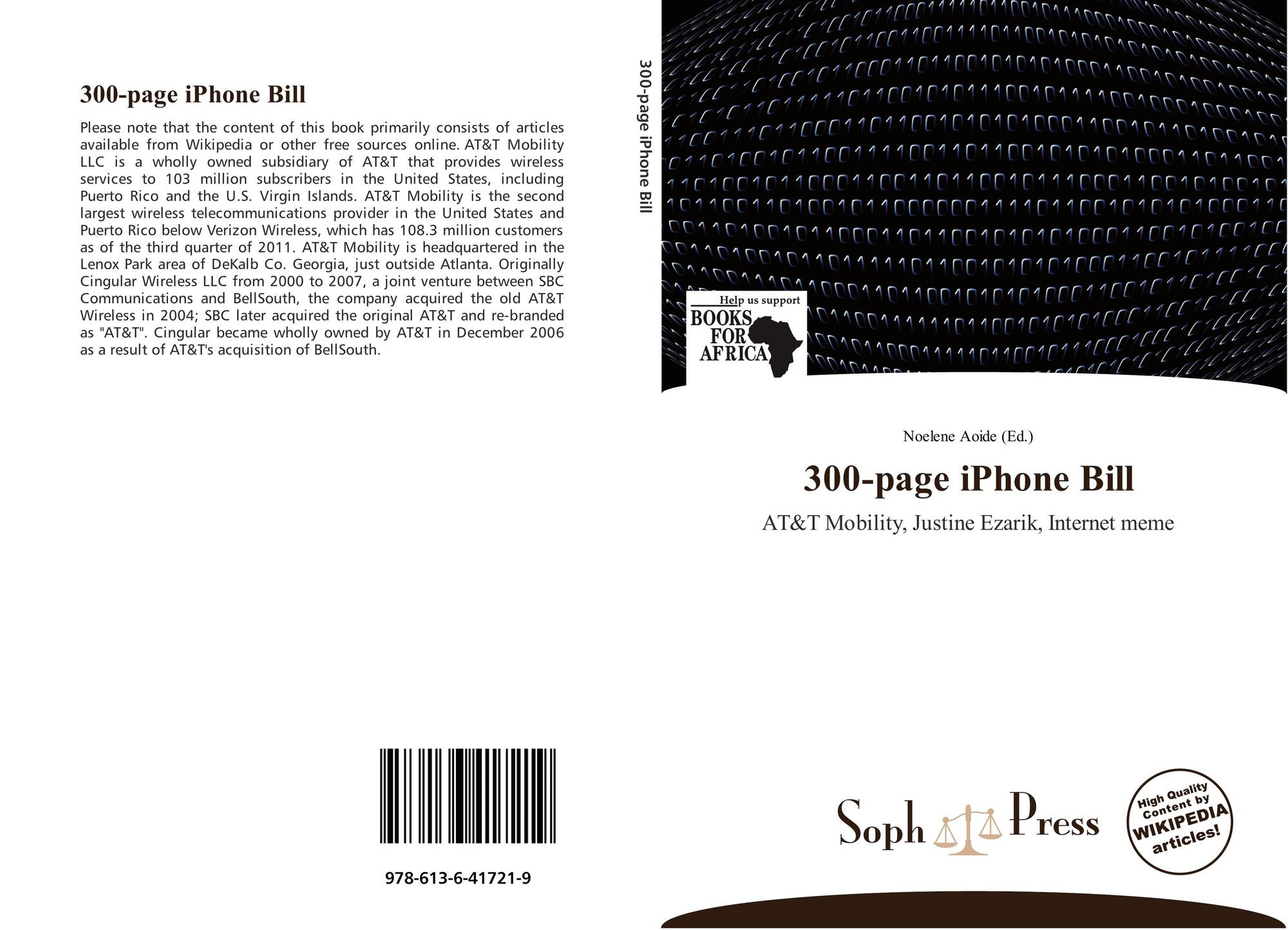 300-page iPhone Bill, 978-613-6-41721-9, 6136417219 ,9786136417219