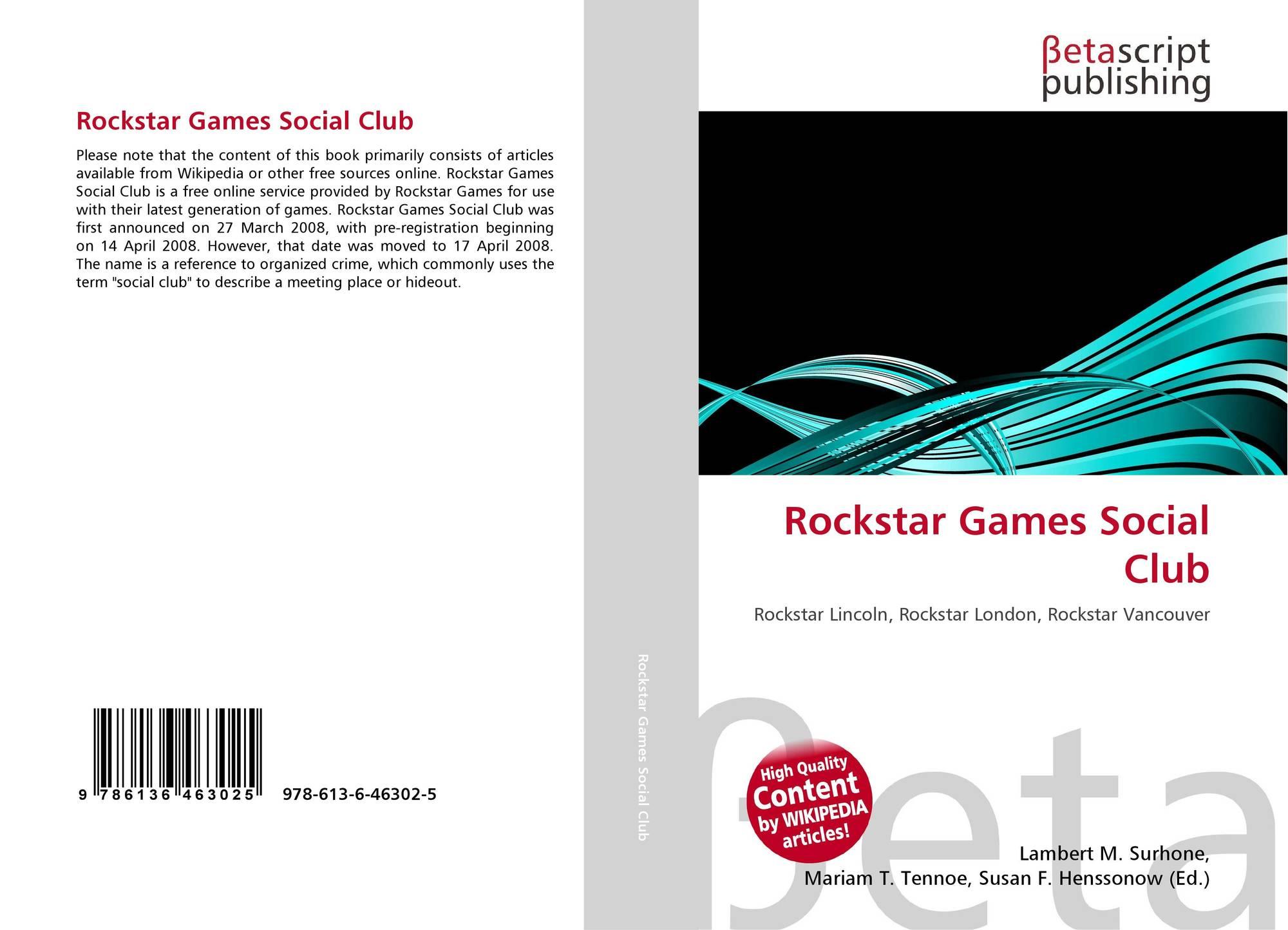 Rockstar Games Social Club, 978-613-6-46302-5, 6136463024