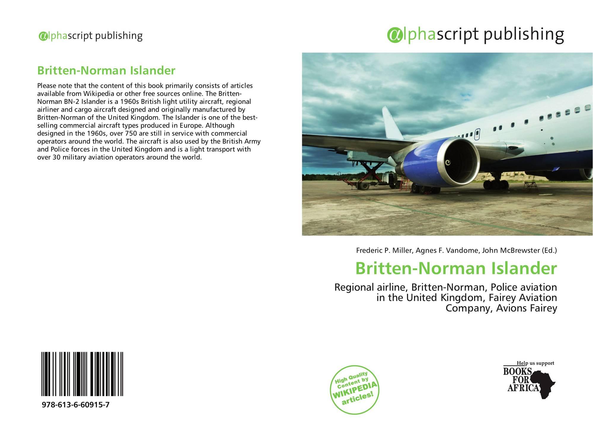 Britten-Norman Islander, 978-613-6-60915-7, 6136609150 ,9786136609157