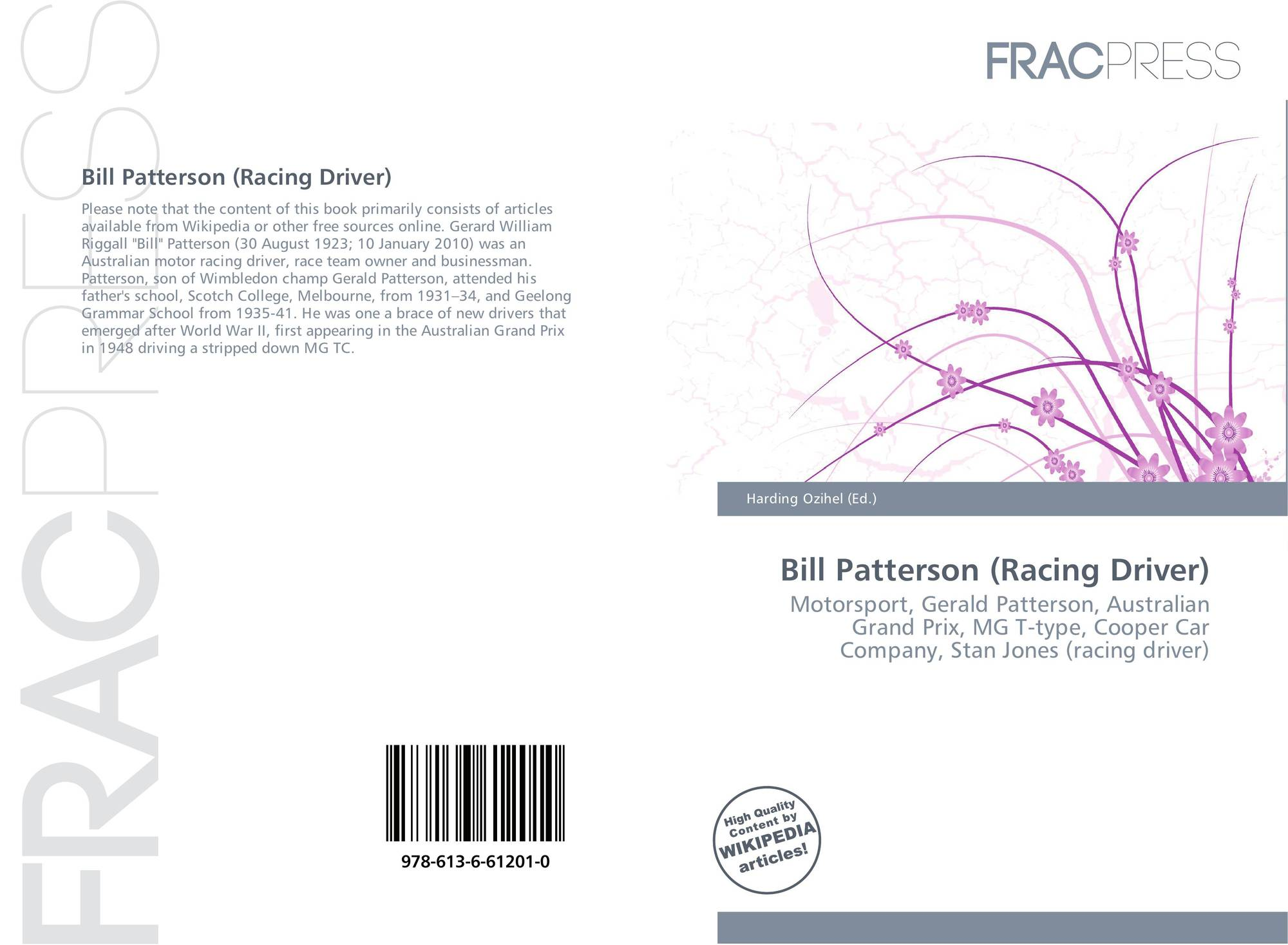 Bill patterson racing driver 978 613 6 61201 0 for Cover jones motor company