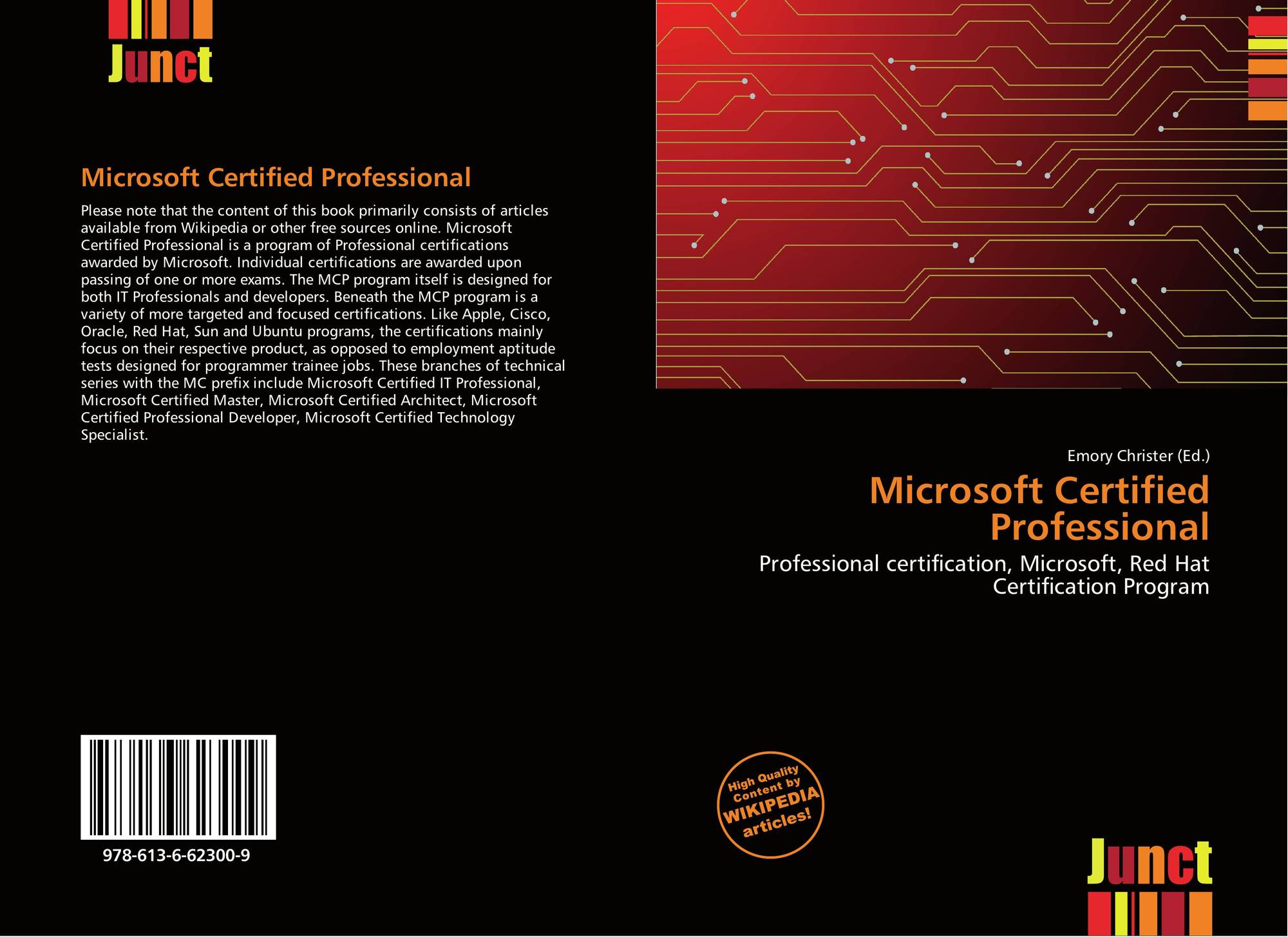 Microsoft Certified Professional 978 613 6 62300 9 6136623005