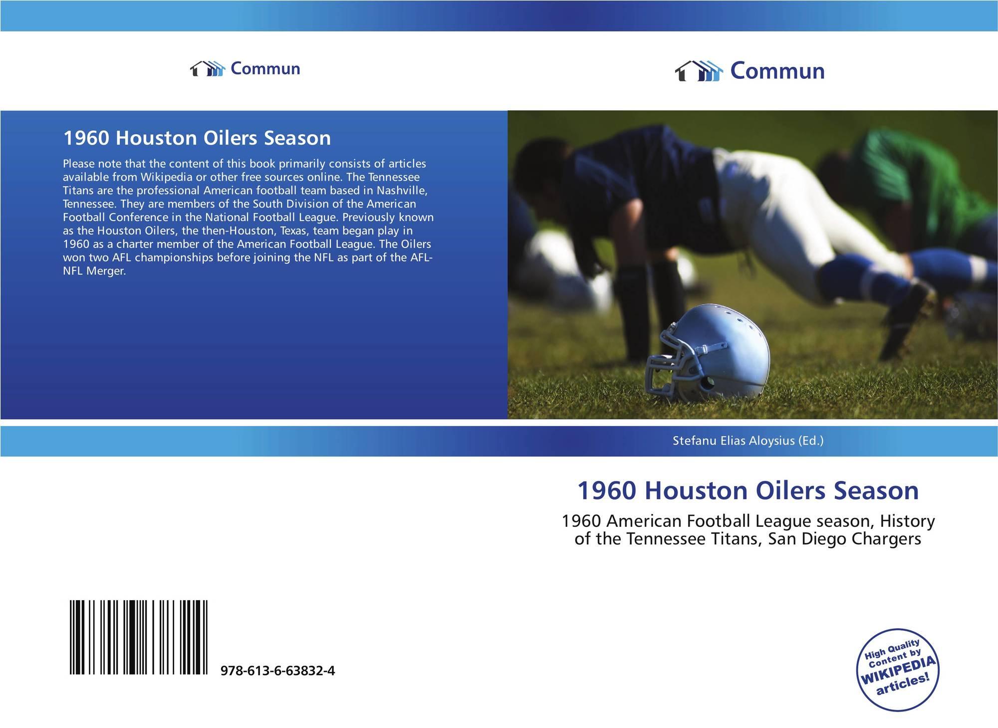 Bookcover of 1960 Houston Oilers Season. 9786136638324 4a8aadafa