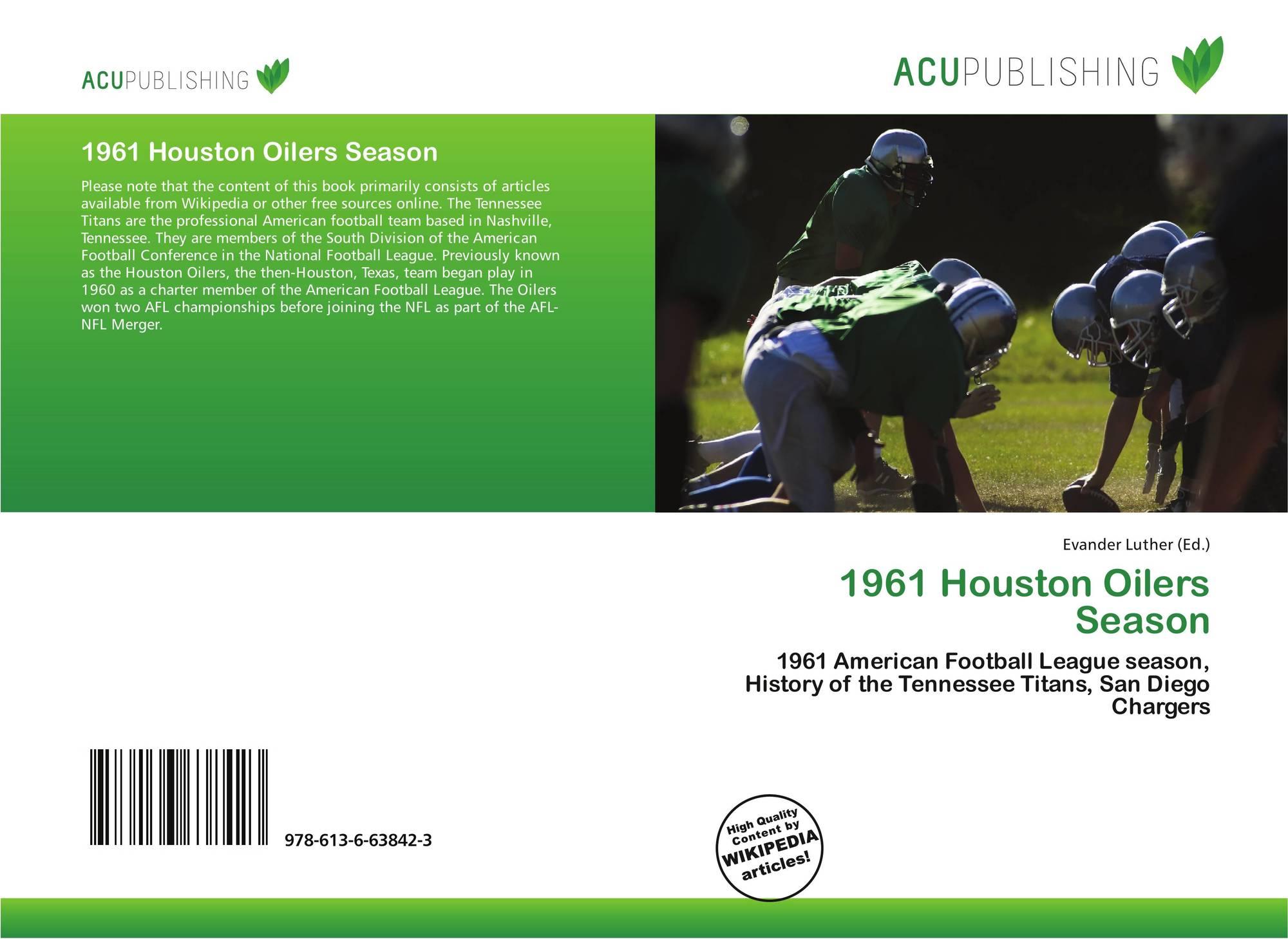 Bookcover of 1961 Houston Oilers Season. 9786136638423 2039320f2