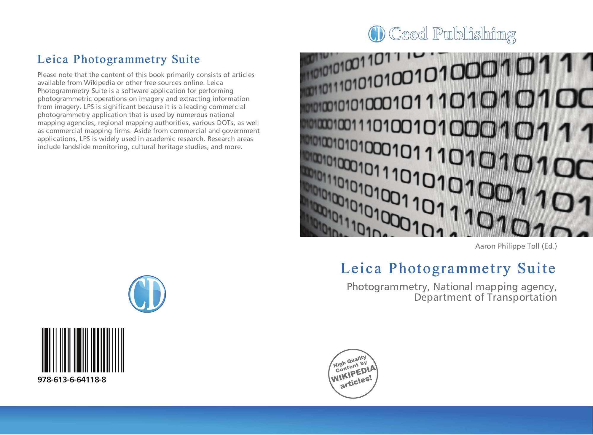 Bookcover Of Leica Photogrammetry Suite