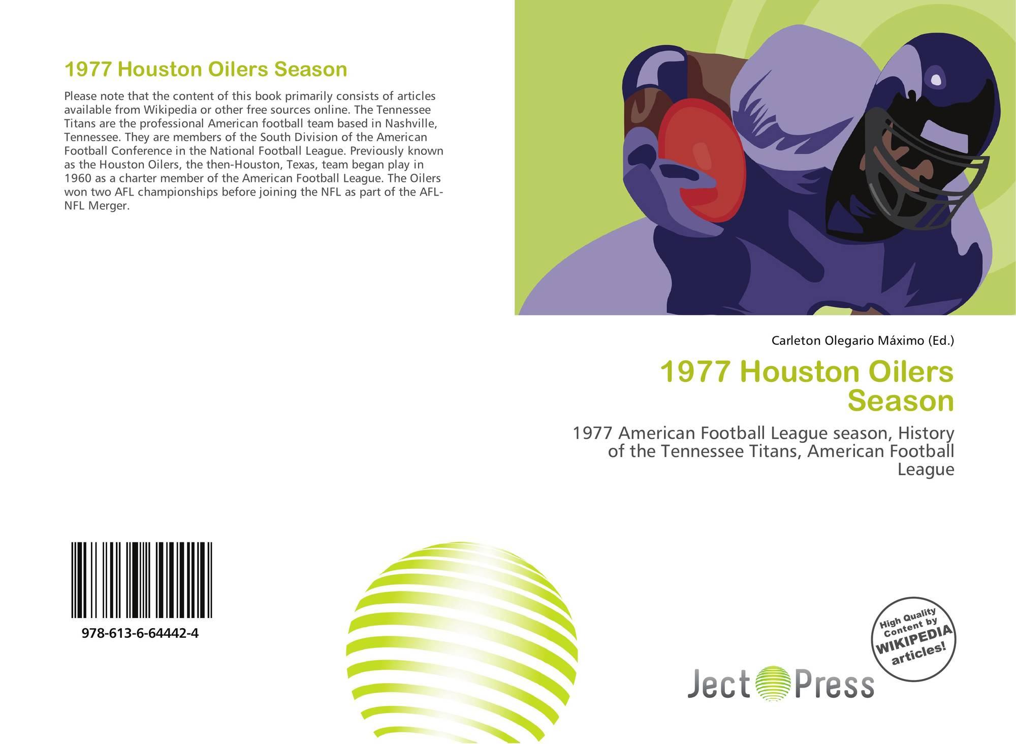 Bookcover of 1977 Houston Oilers Season 109204ba7