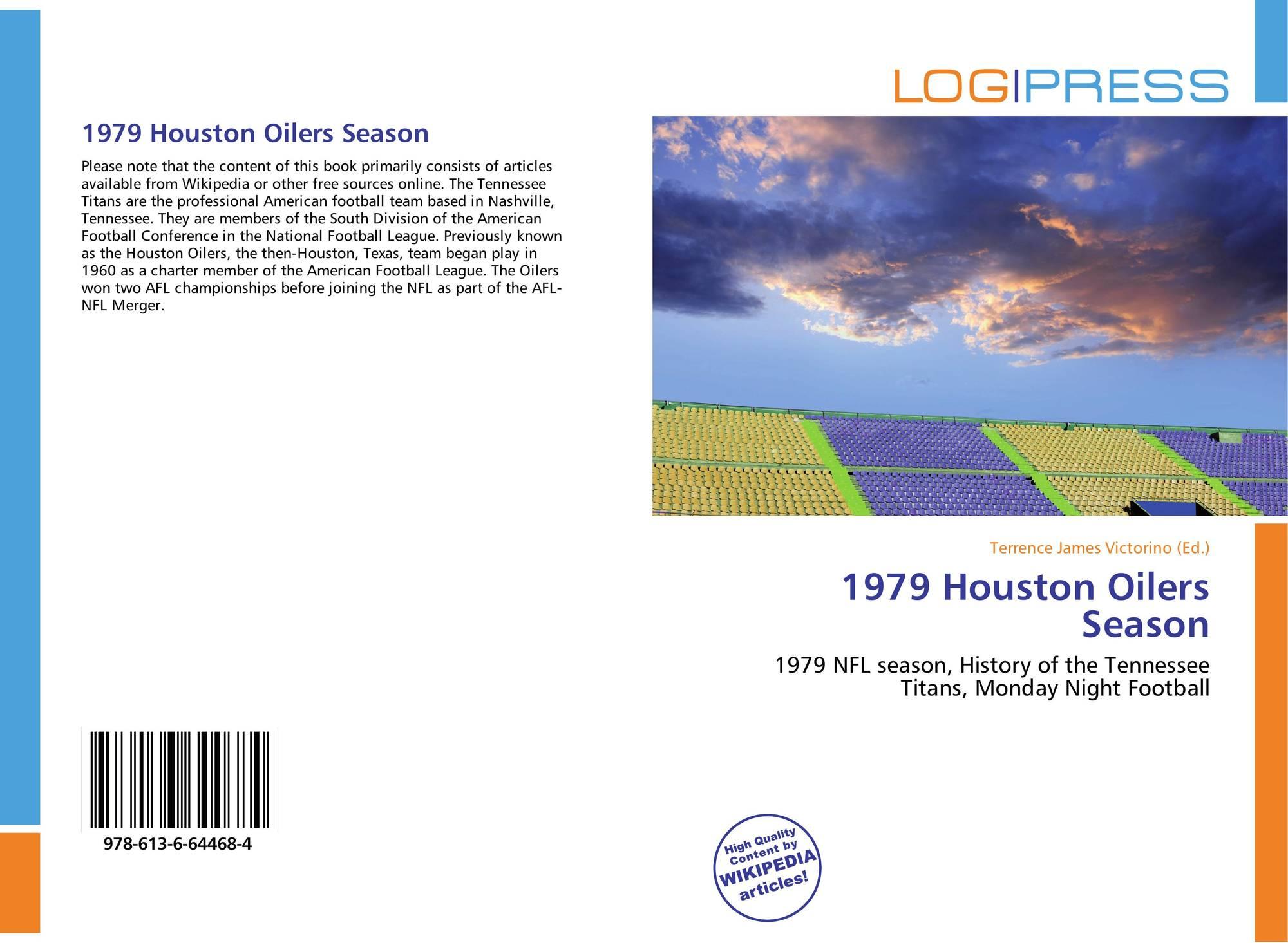 Bookcover of 1979 Houston Oilers Season. 9786136644684 7da1bc9a6