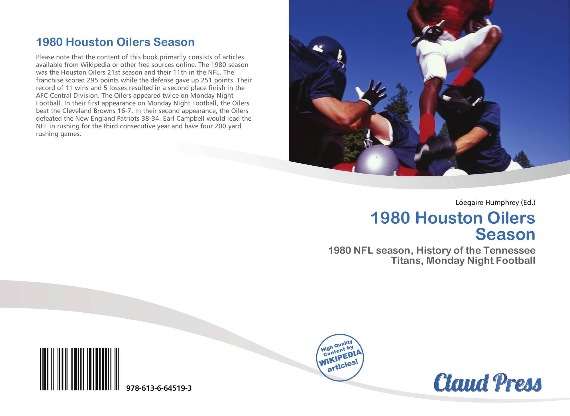 Bookcover of 1980 Houston Oilers Season. 9786136645193 92dd195f6