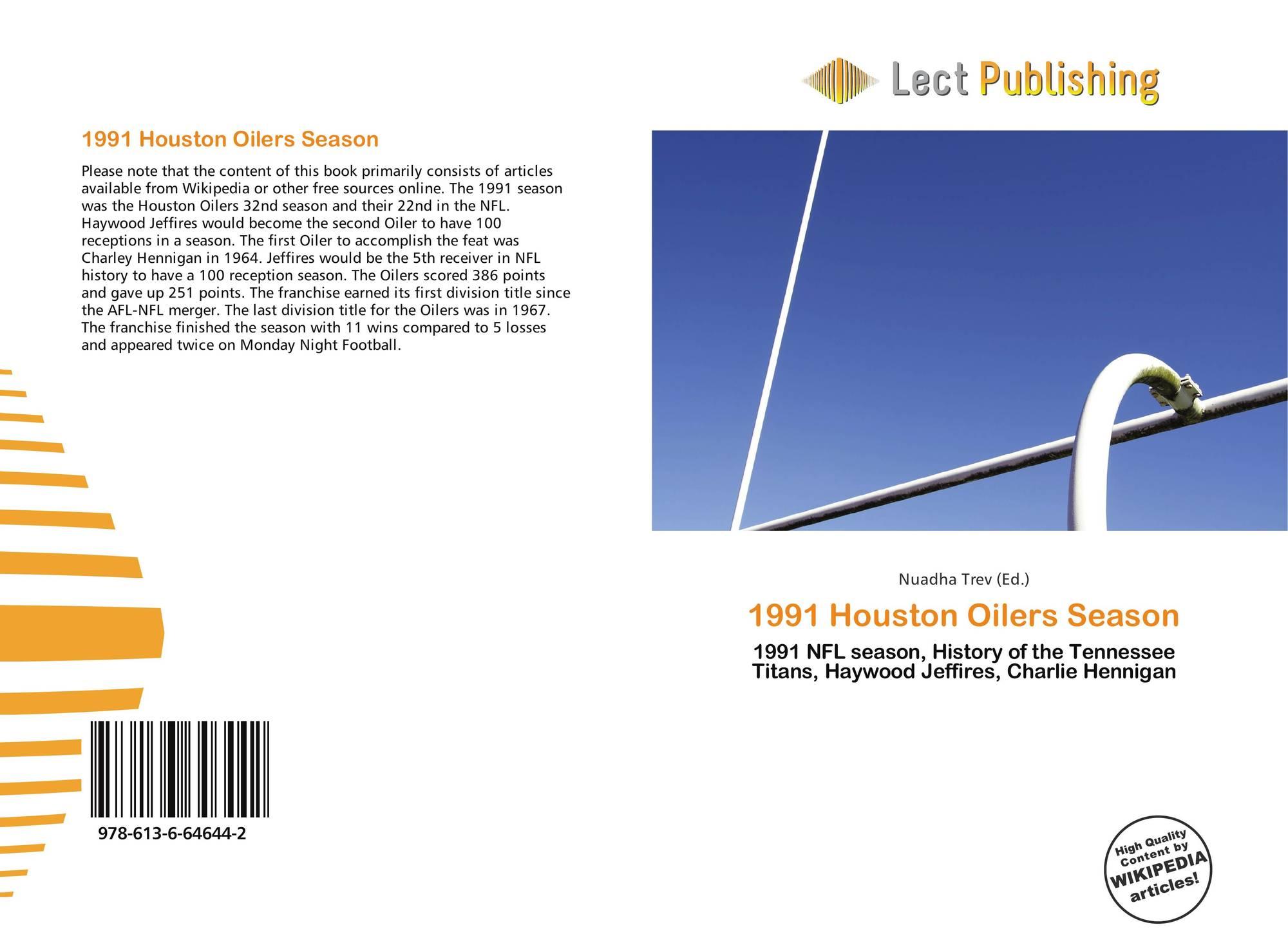 Bookcover of 1991 Houston Oilers Season. 9786136646442 36df1096e