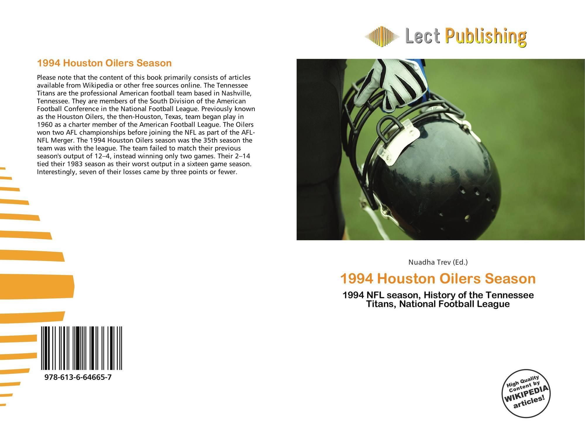 Bookcover of 1994 Houston Oilers Season. 9786136646657 727a2942f