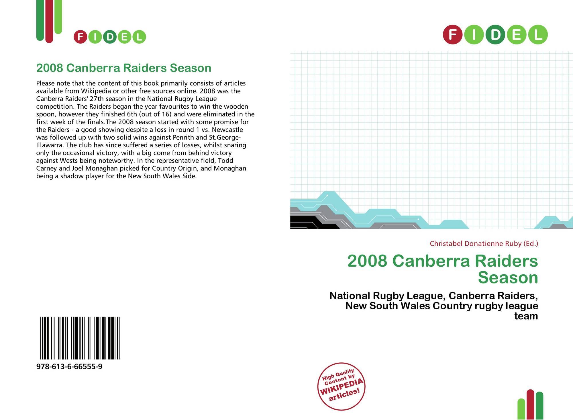 2008 Canberra Raiders Season 978 613 6 66555 9 6136665557 9786136665559