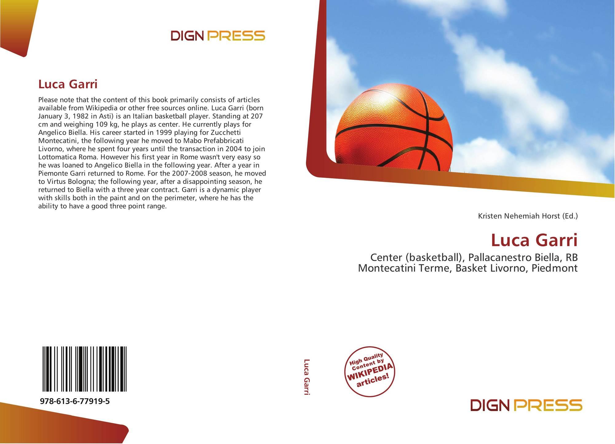 Luca Garri, 978-613-6-77919-5, 6136779196 ,9786136779195