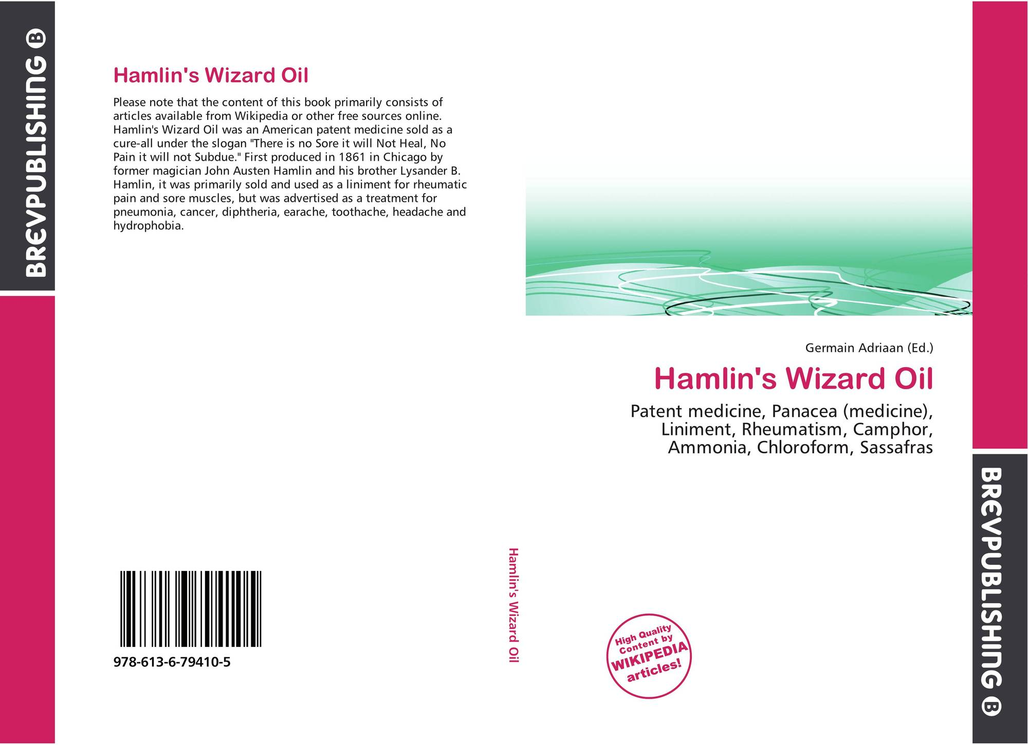 Hamlin's Wizard Oil, 978-613-6-79410-5, 6136794101
