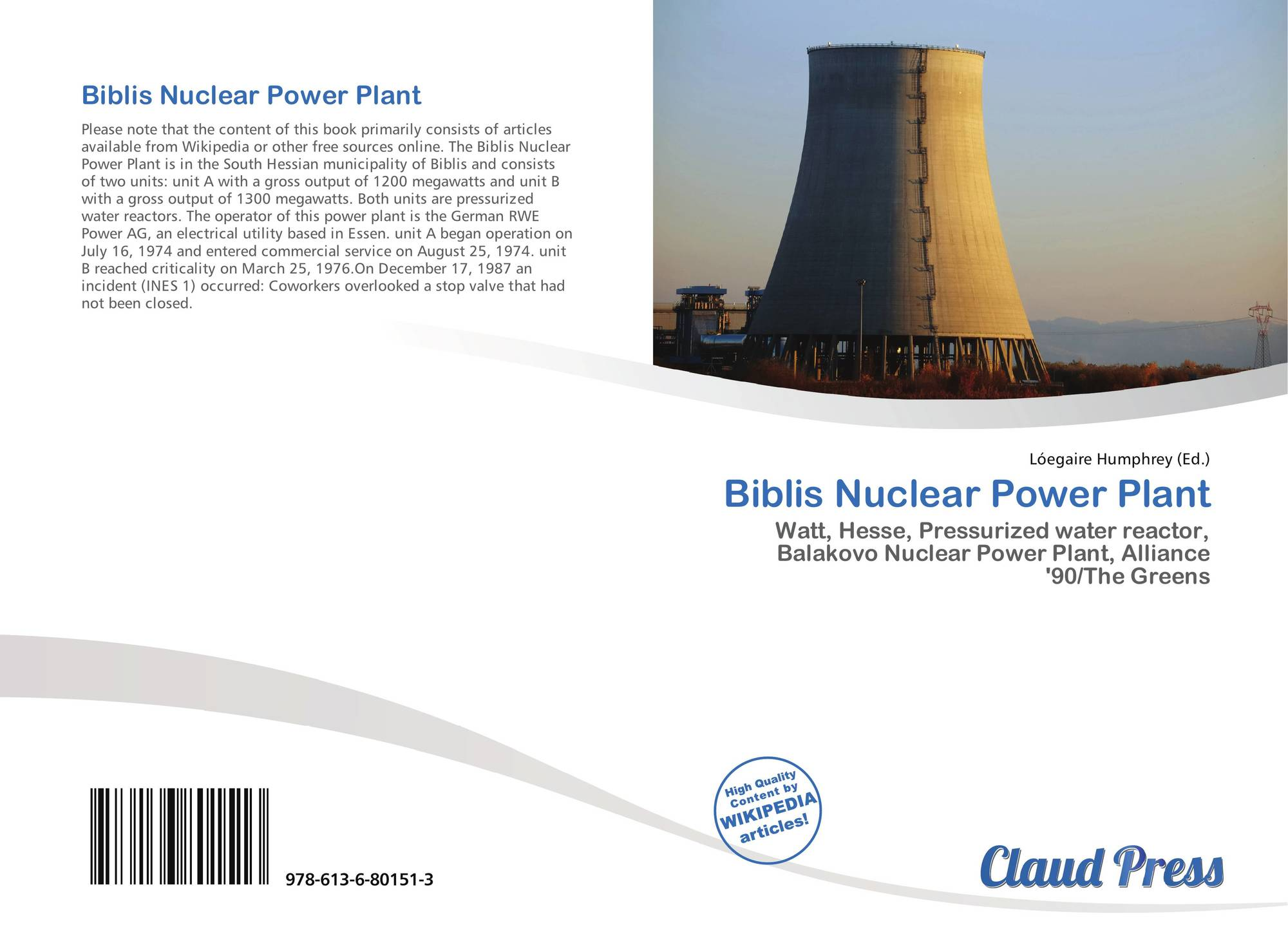 Biblis Nuclear Power Plant 978 613 6 80151 3 6136801515 9786136801513 Diagram Pictures Bookcover Of