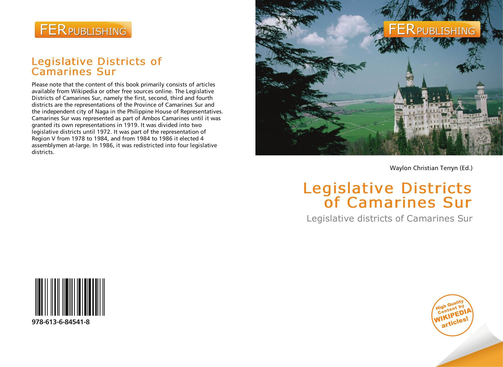 Legislative Districts of Camarines Sur, 978-613-6-84541-8