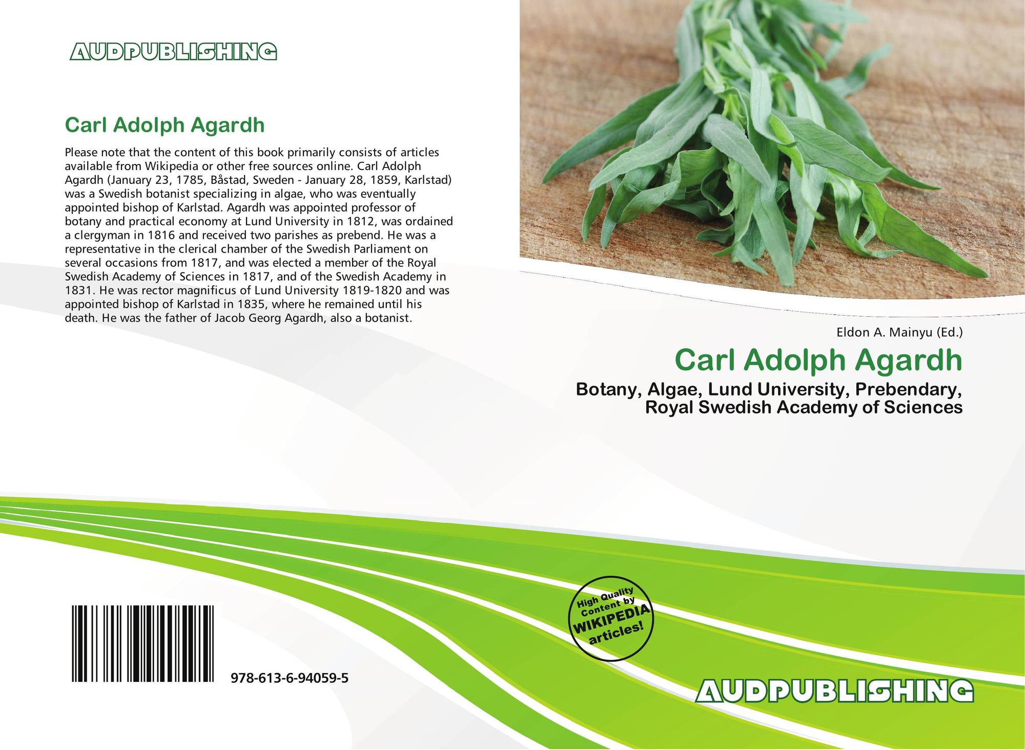 Carl Adolph Agardh, 978-613-6-94059-5, 6136940590 ,9786136940595