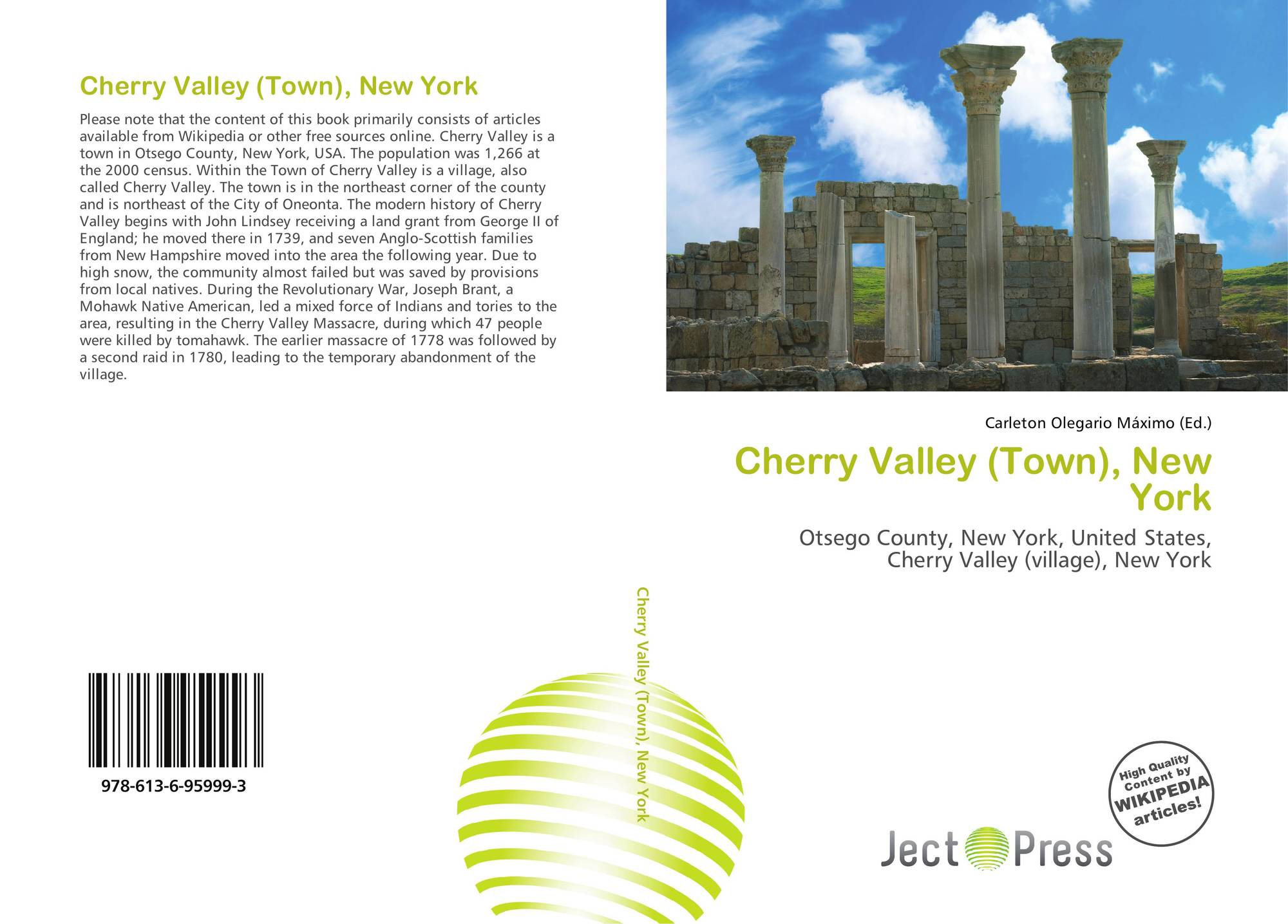 New york otsego county cherry valley - Bookcover Of Cherry Valley Town New York