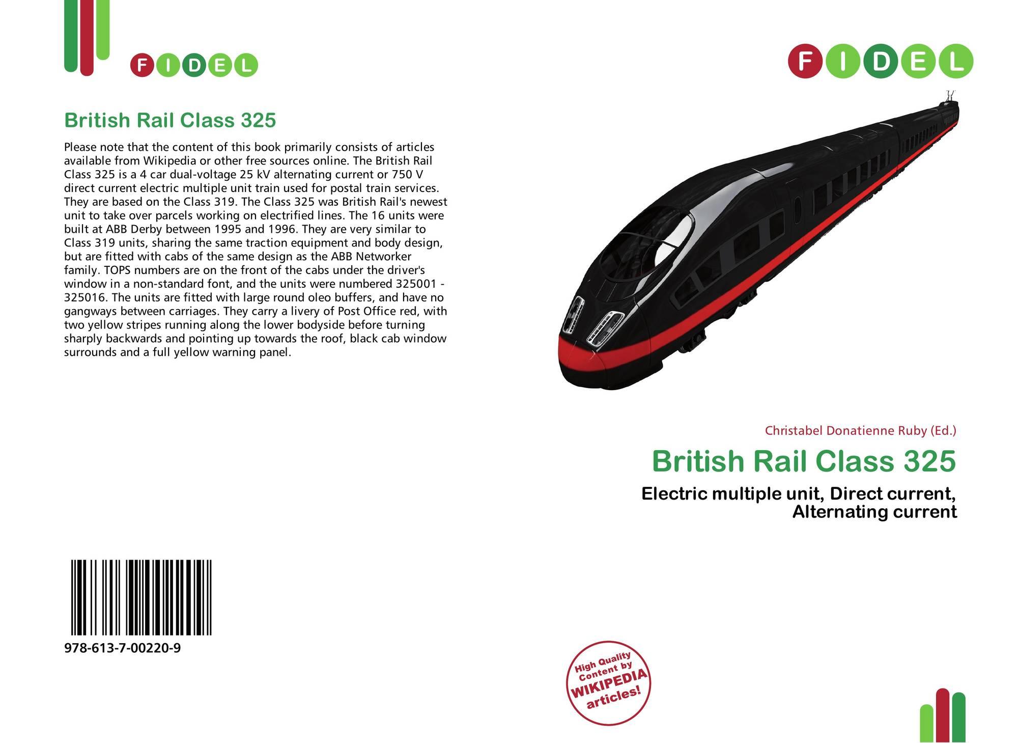 British Rail Class 325, 978-613-7-00220-9, 6137002209 ,9786137002209
