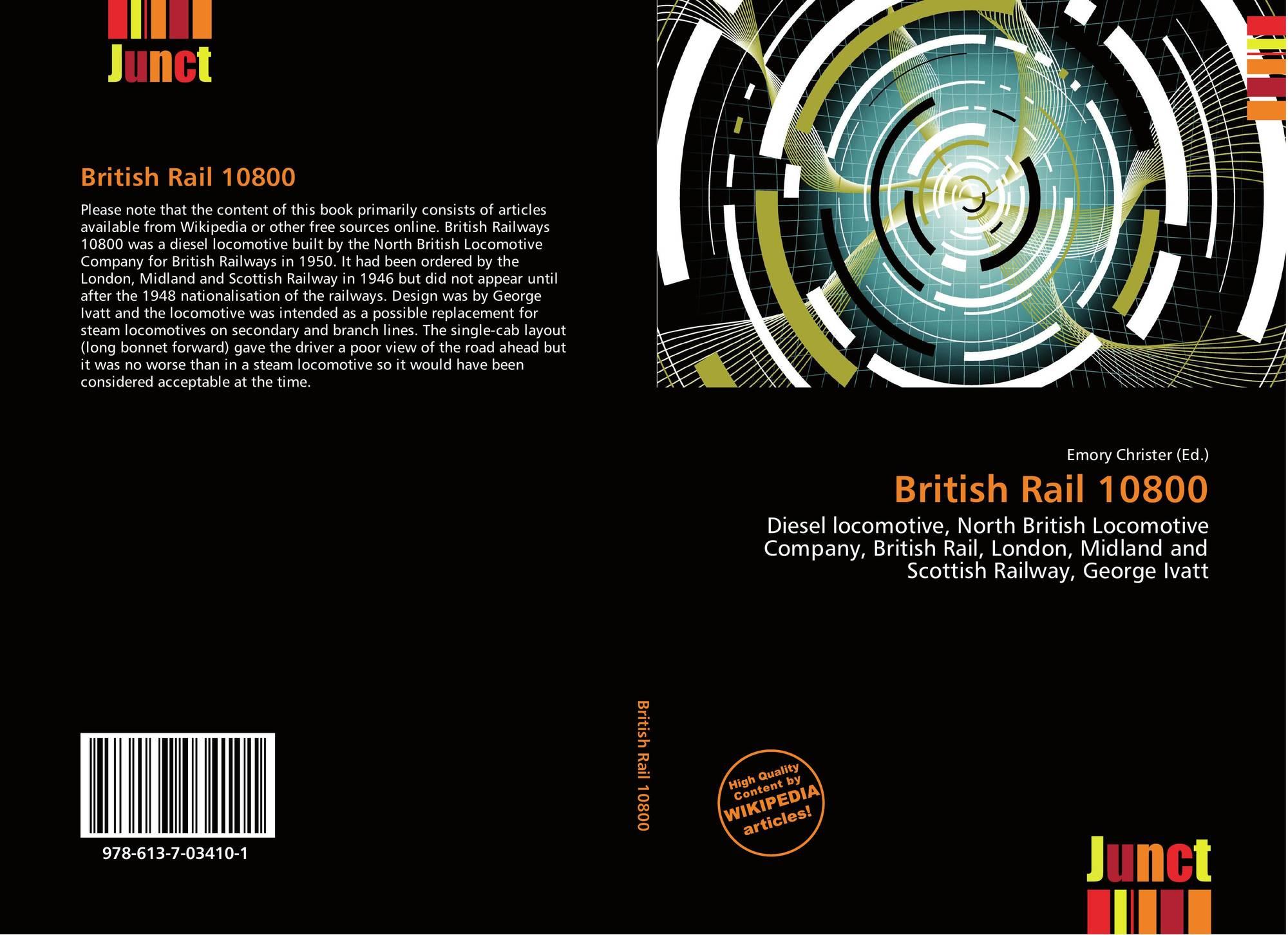 British Rail 10800, 978-613-7-03410-1, 6137034100 ,9786137034101
