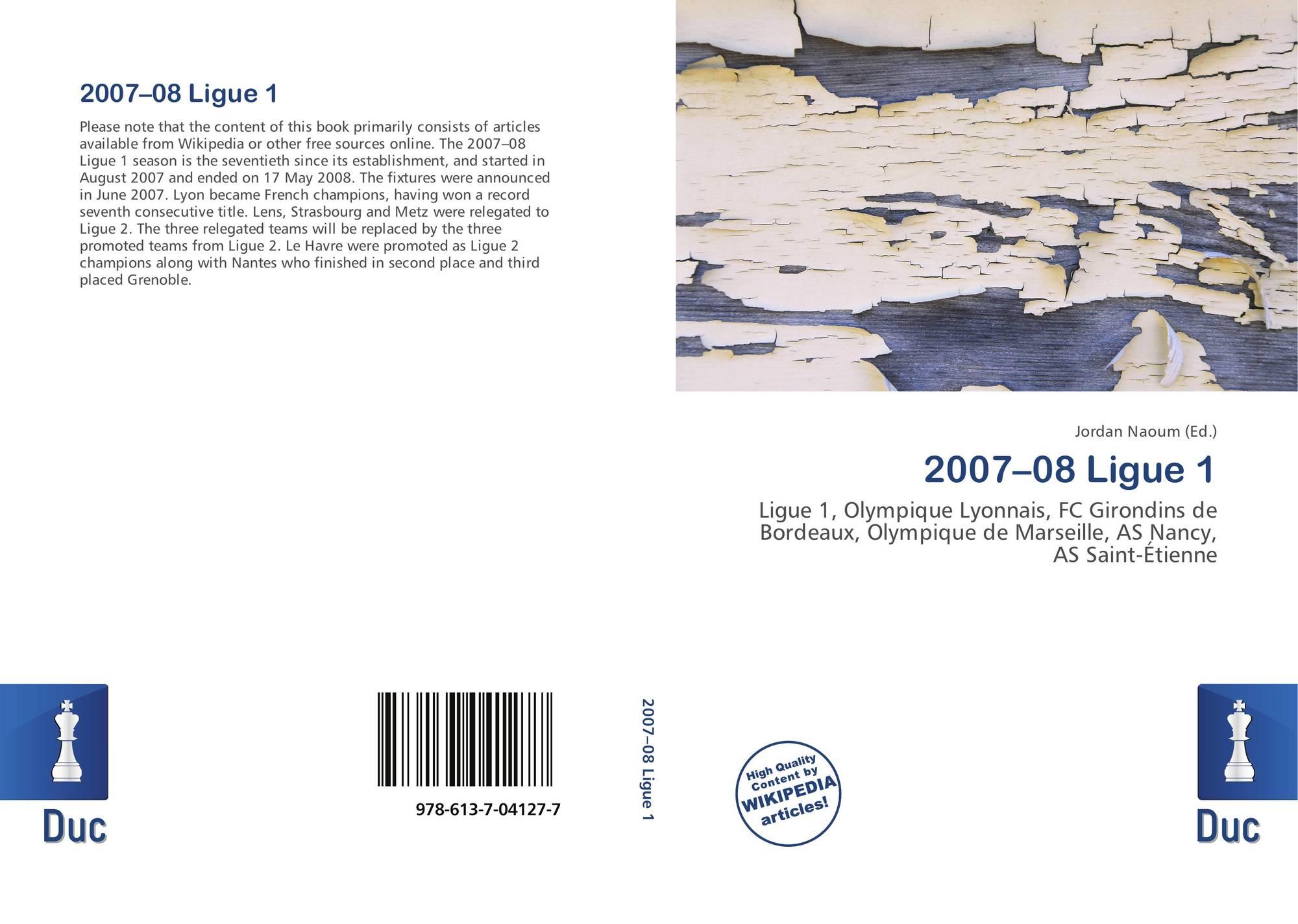 2007–08 Ligue 1, 978 613 7 04127 7, 6137041271 ,9786137041277