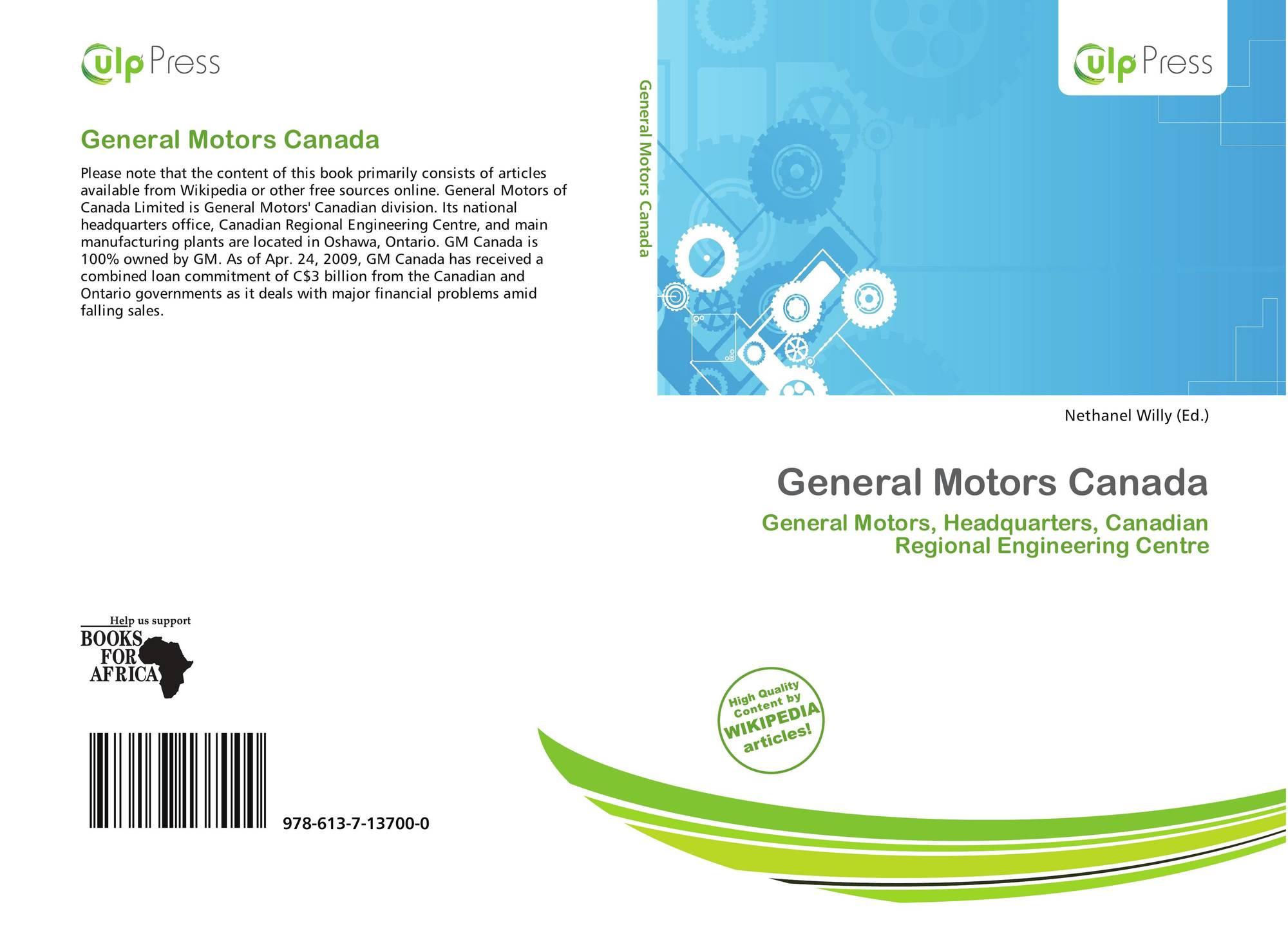 General Motors Canada, 978-613-7-13700-0, 6137137007