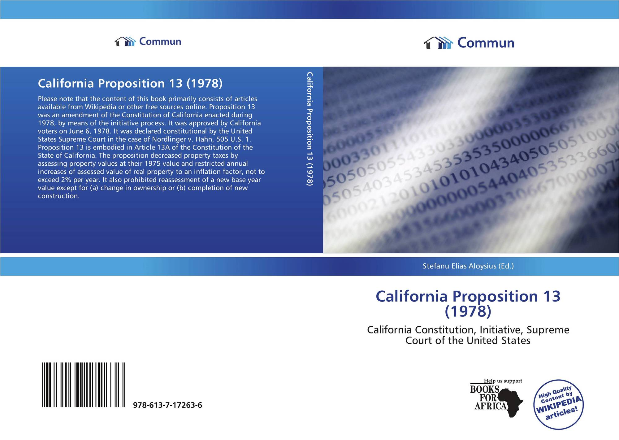 Prop 13 in California, 35 Years Later