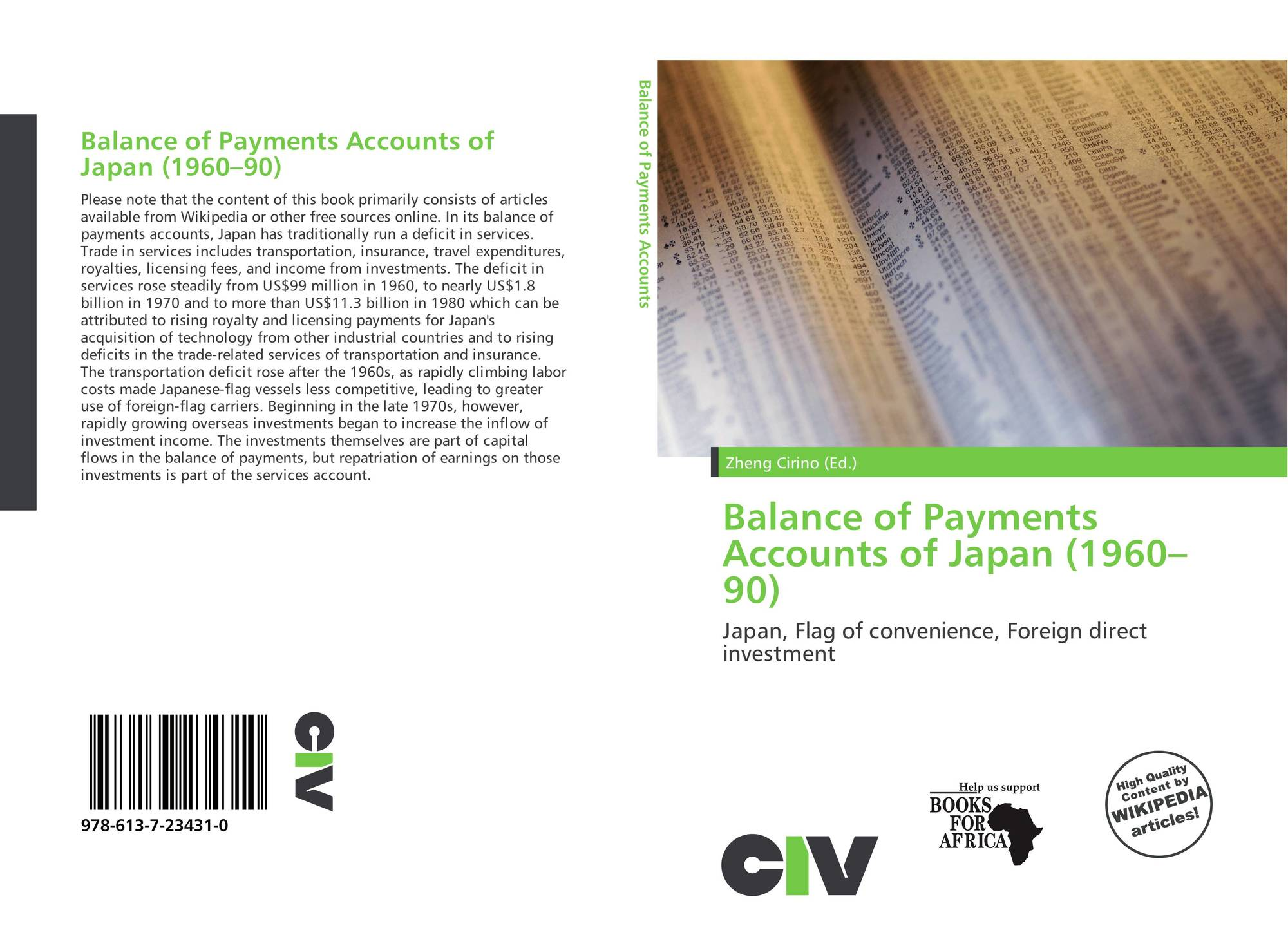 Balance Of Payments Accounts Of Japan 1960 90 978 613 7 23431 0