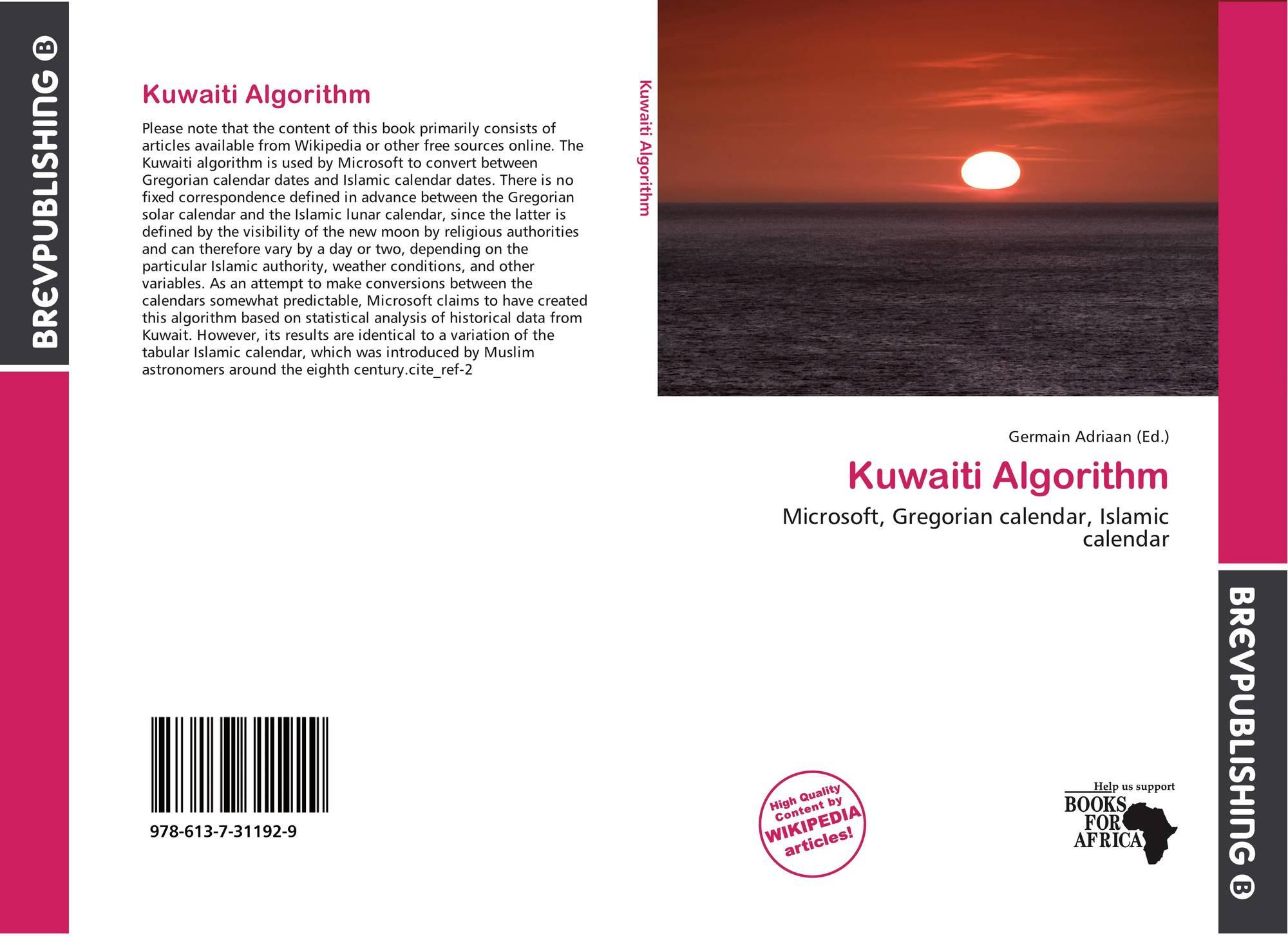 Kuwaiti Algorithm, 978-613-7-31192-9, 6137311929 ,9786137311929