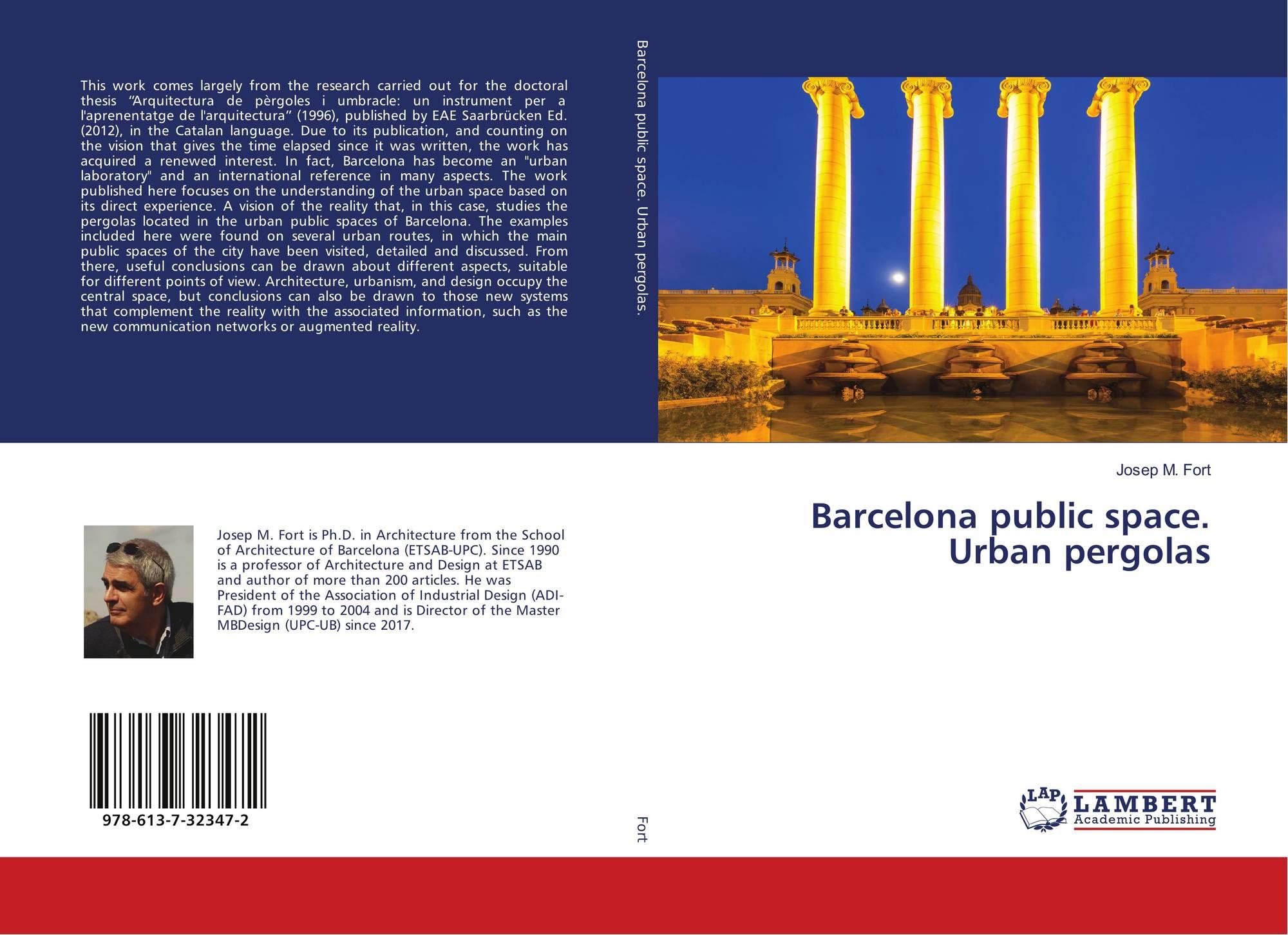 Barcelona public space  Urban pergolas, 978-613-7-32347-2