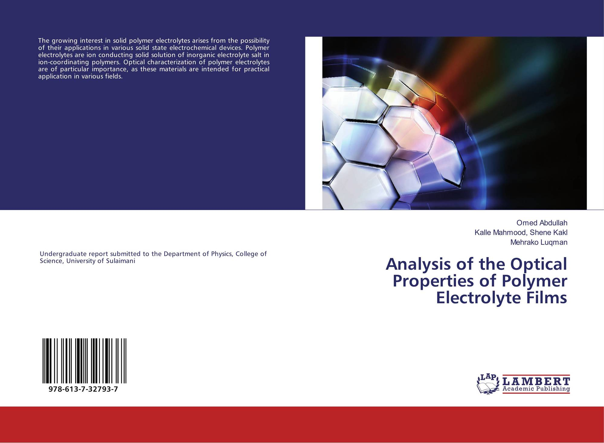 Analysis of the Optical Properties of Polymer Electrolyte Films, 978